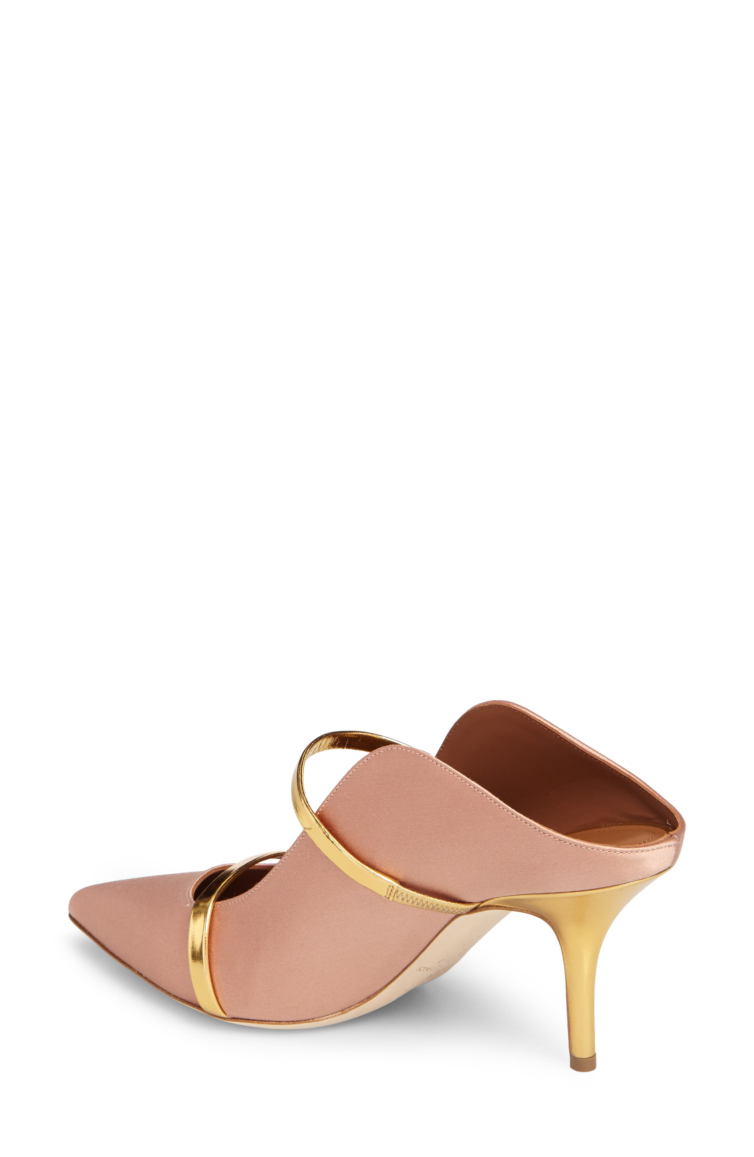 Maureen Double Band Mule,                             Alternate thumbnail 2, color,                             Blush/ Gold