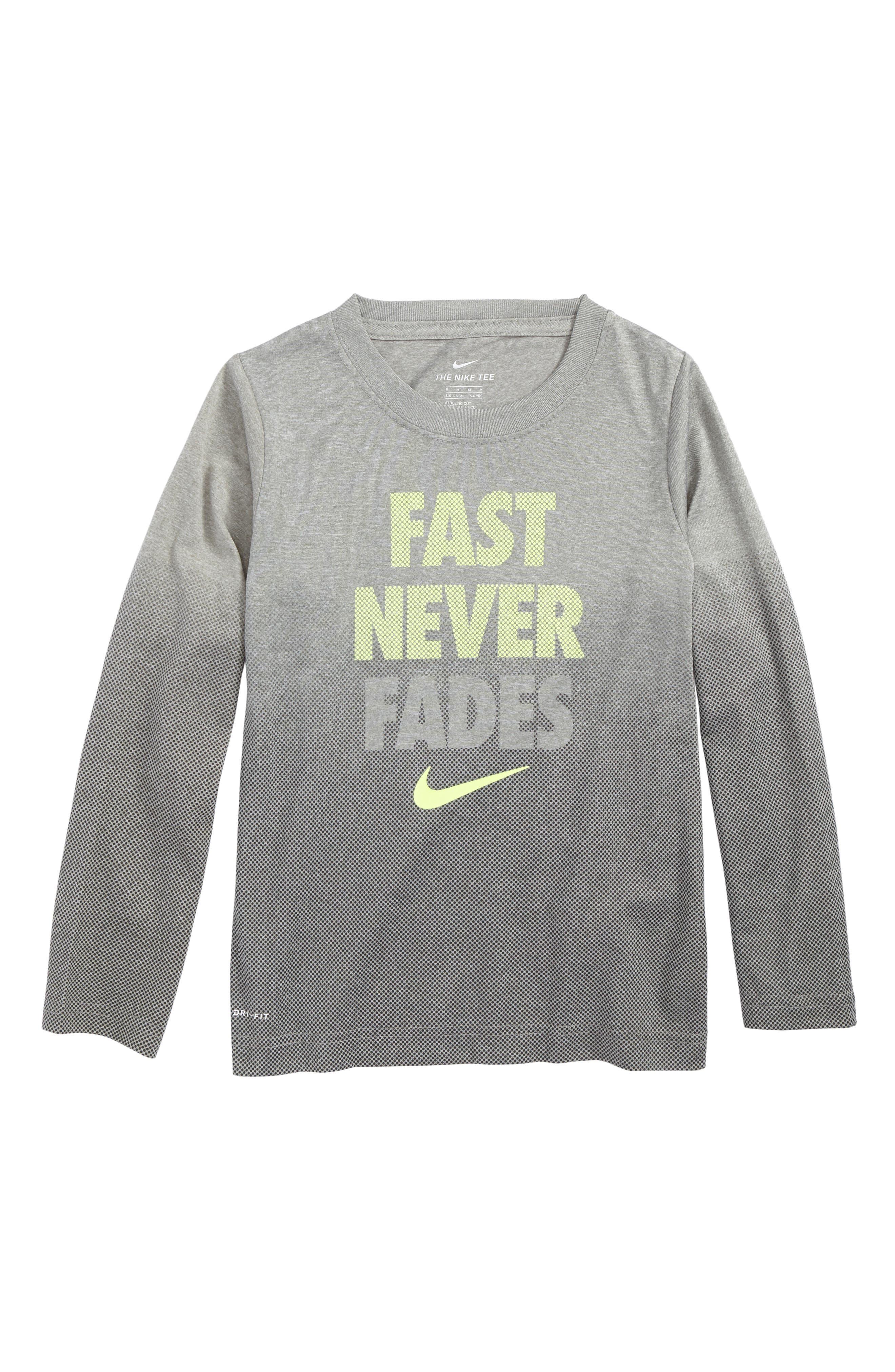 Nike Fast Never Fades Long Sleeve T-Shirt (Toddler Boys & Little Boys)