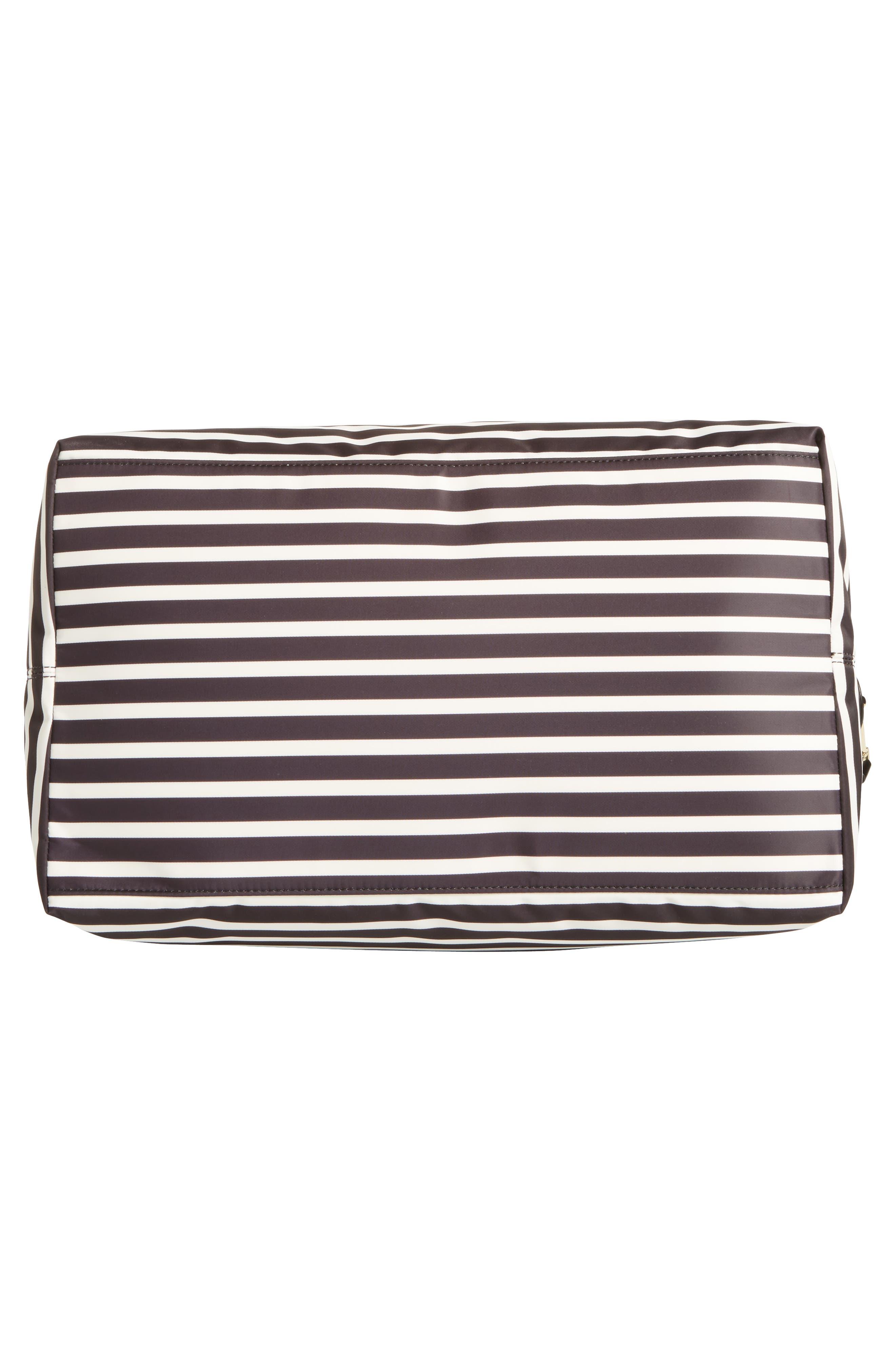 watson lane lyla stripe nylon tote,                             Alternate thumbnail 6, color,                             Black/ Clotted Cream