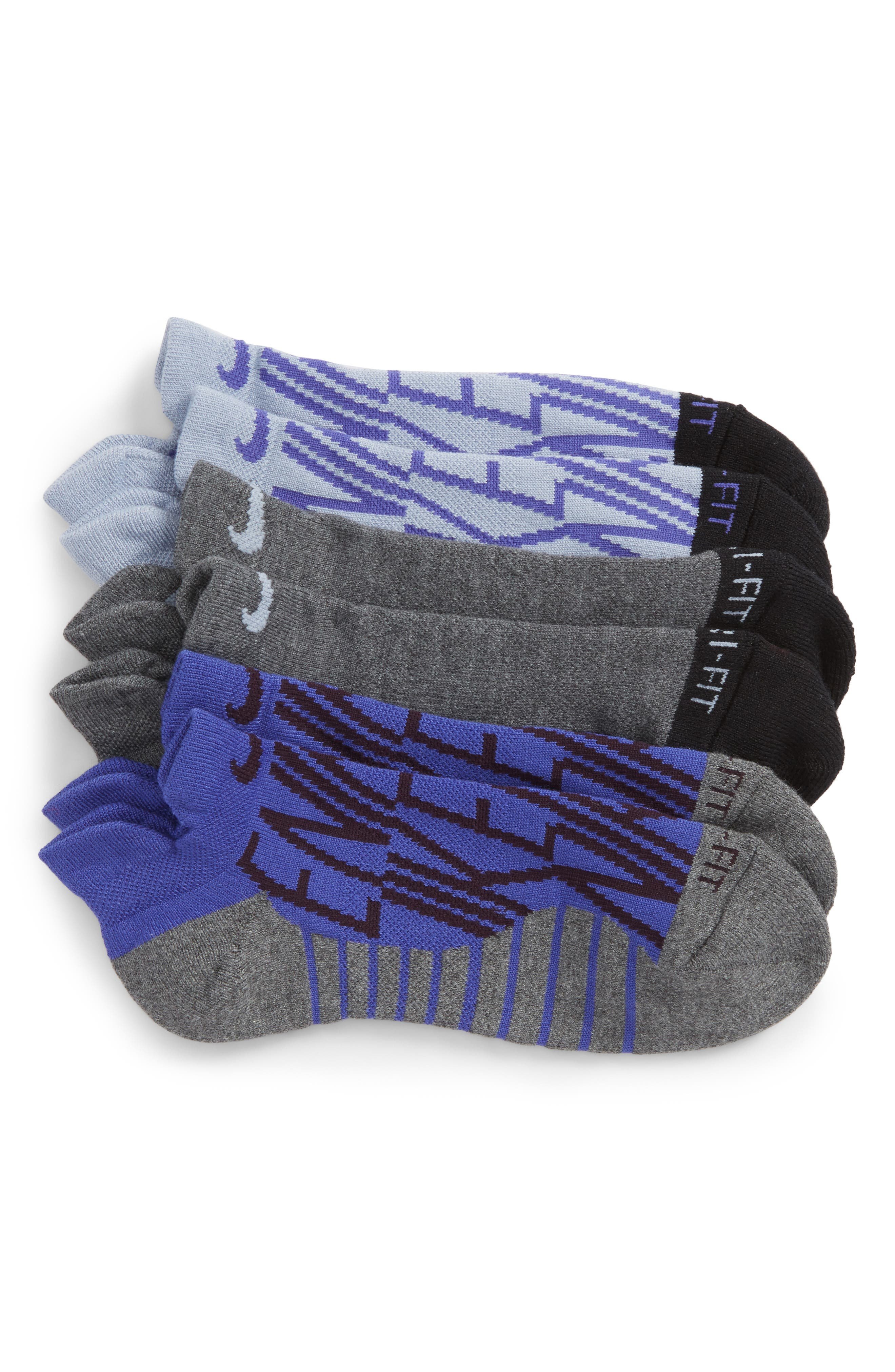 Alternate Image 1 Selected - Nike Dry 3-Pack Cushioned No-Show Socks