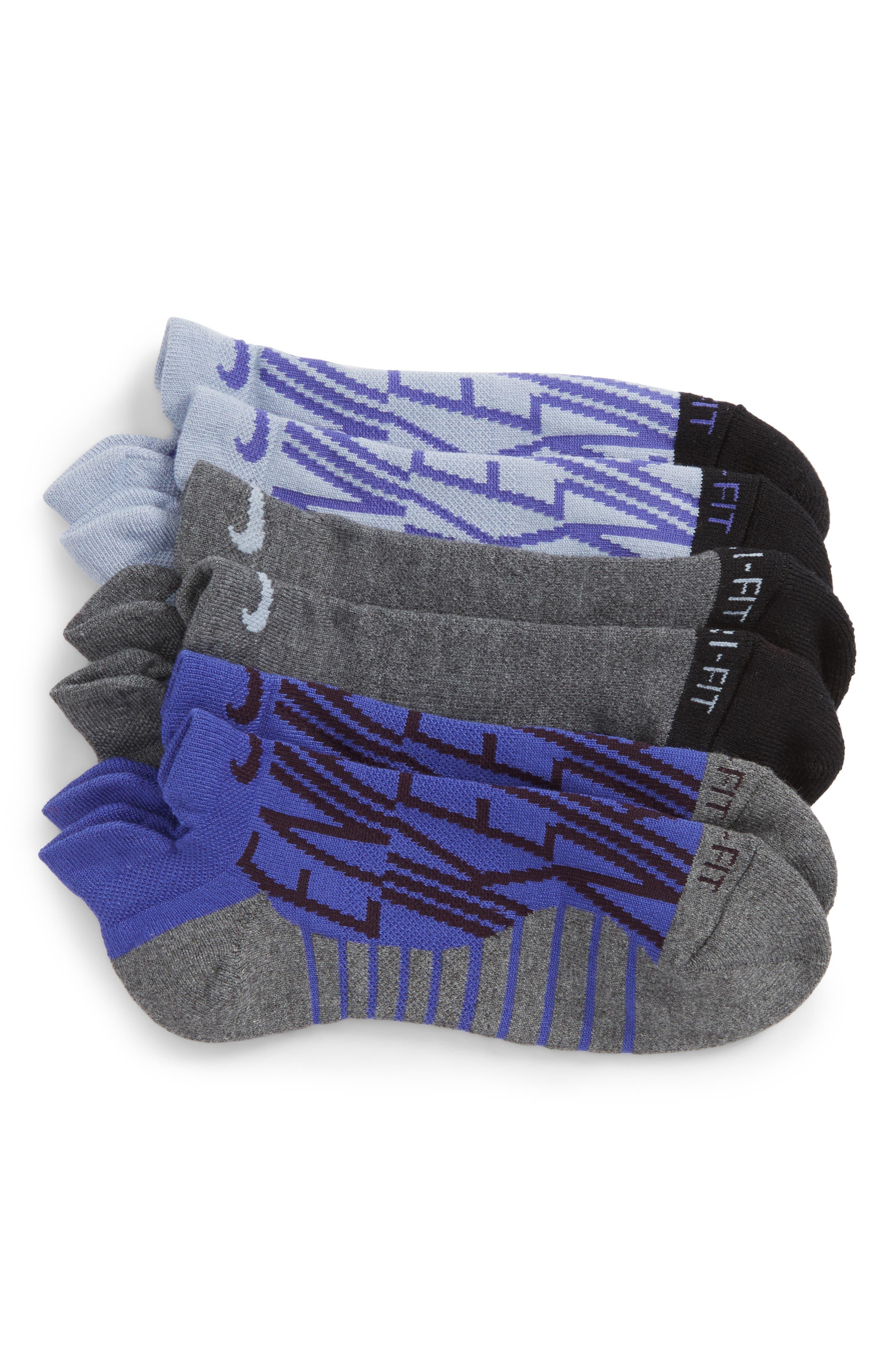 Main Image - Nike Dry 3-Pack Cushioned No-Show Socks