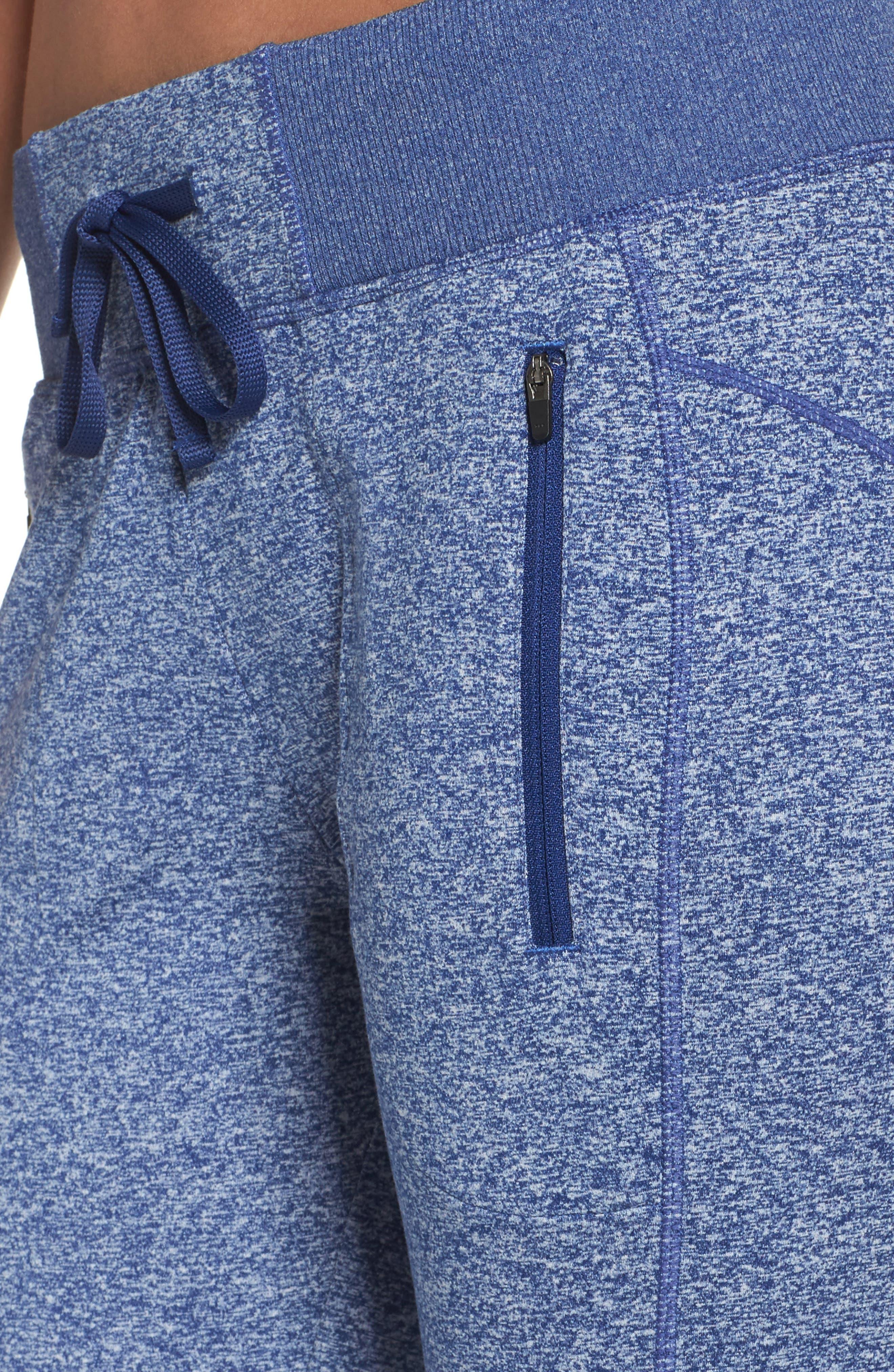 Taryn Sport Knit Pants,                             Alternate thumbnail 4, color,                             Blue Depths Melange