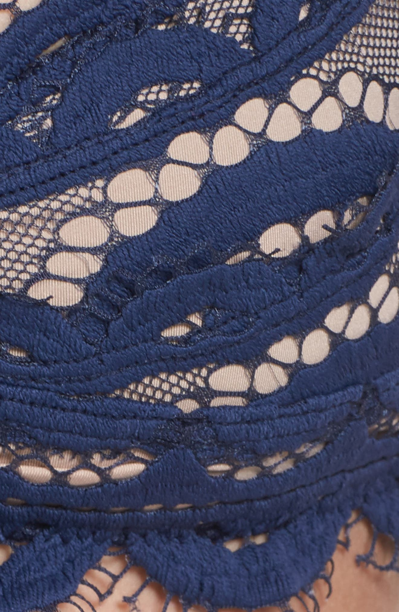 Lace Bralette Bikini Top,                             Alternate thumbnail 5, color,                             Nautica