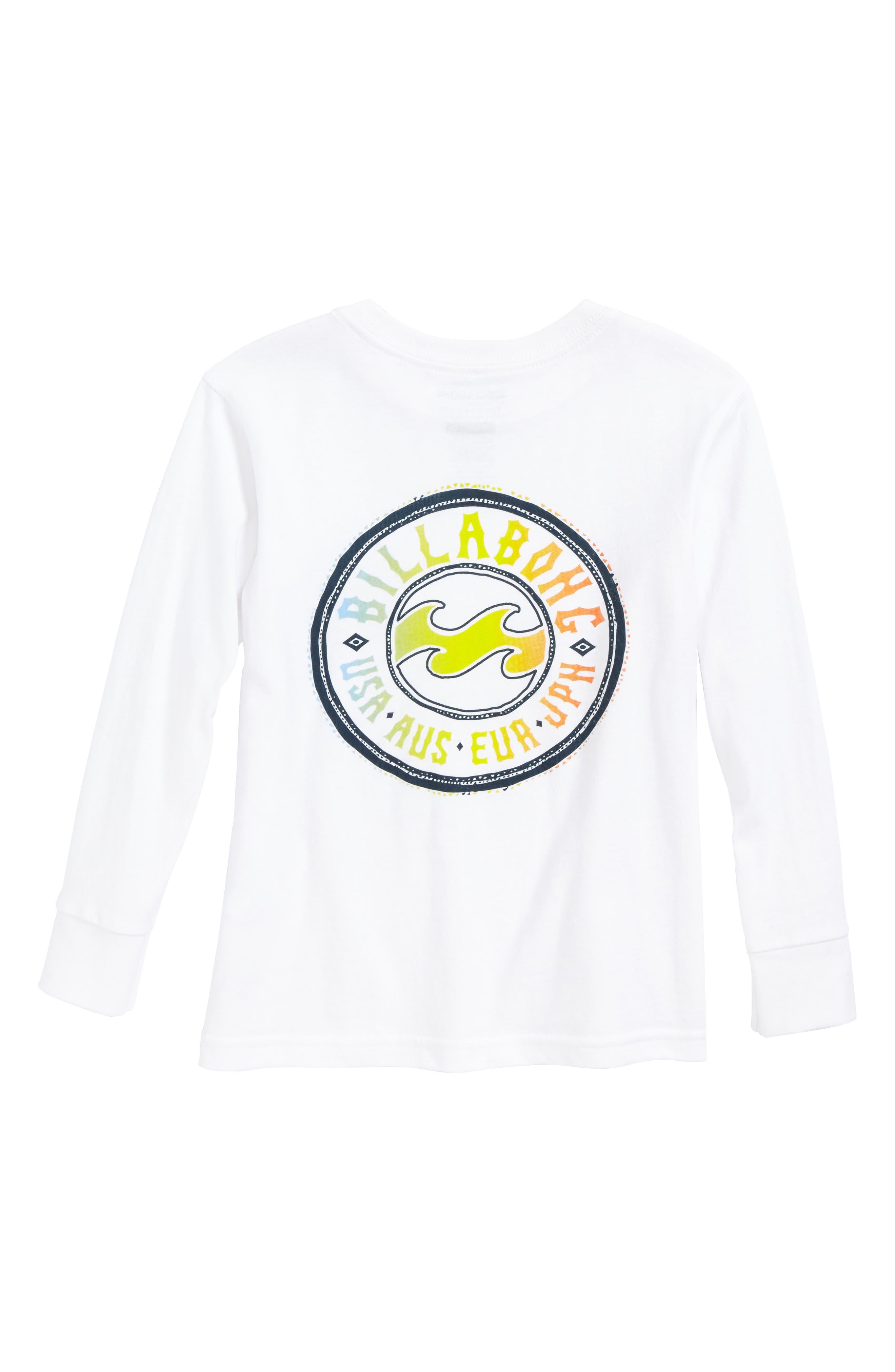 Flip Wave Long Sleeve Graphic T-Shirt,                             Alternate thumbnail 2, color,                             White