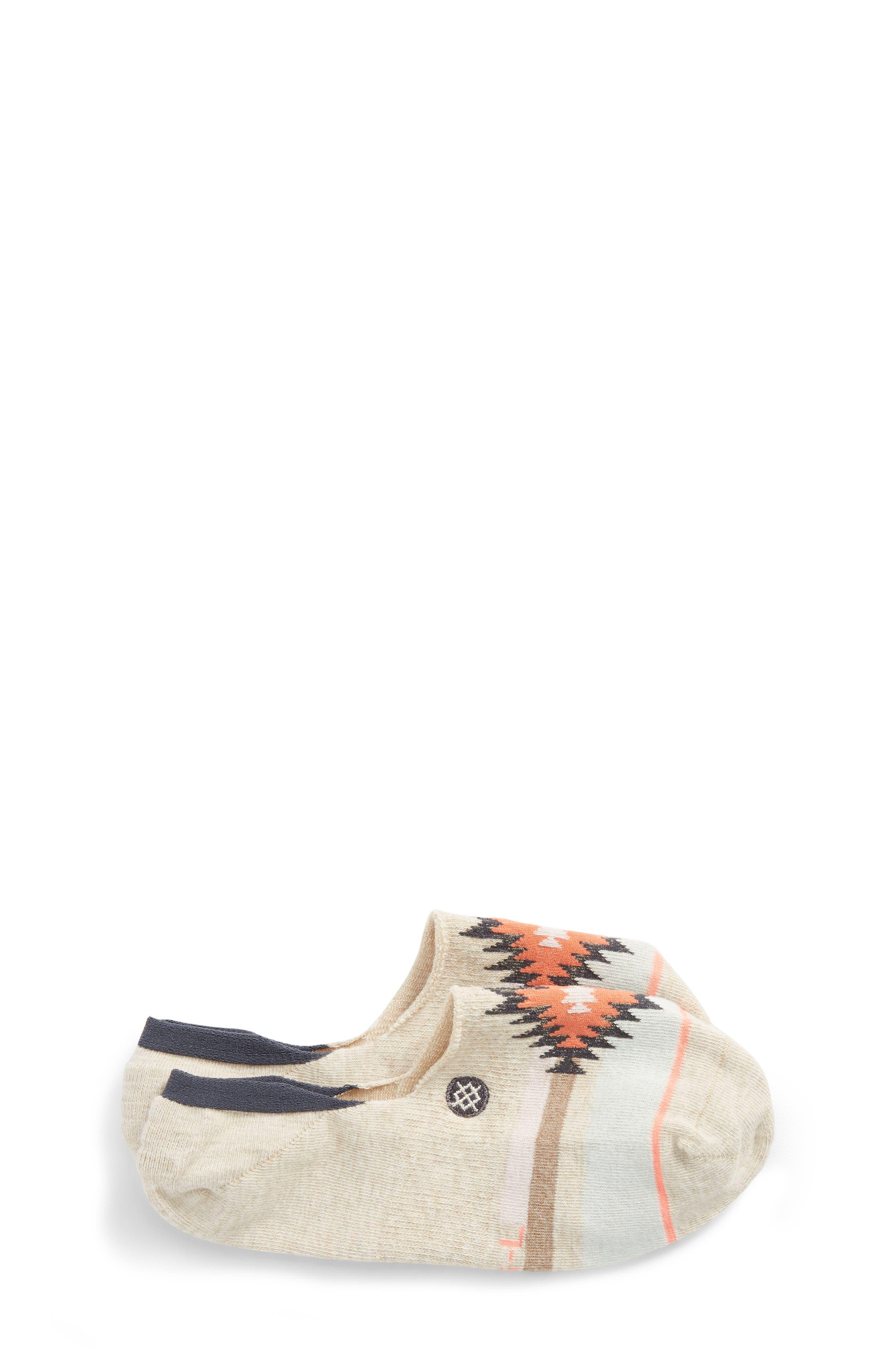 Main Image - Stance Belle Geo Pattern No-Show Socks (Toddler, Little Kid & Big Kid)