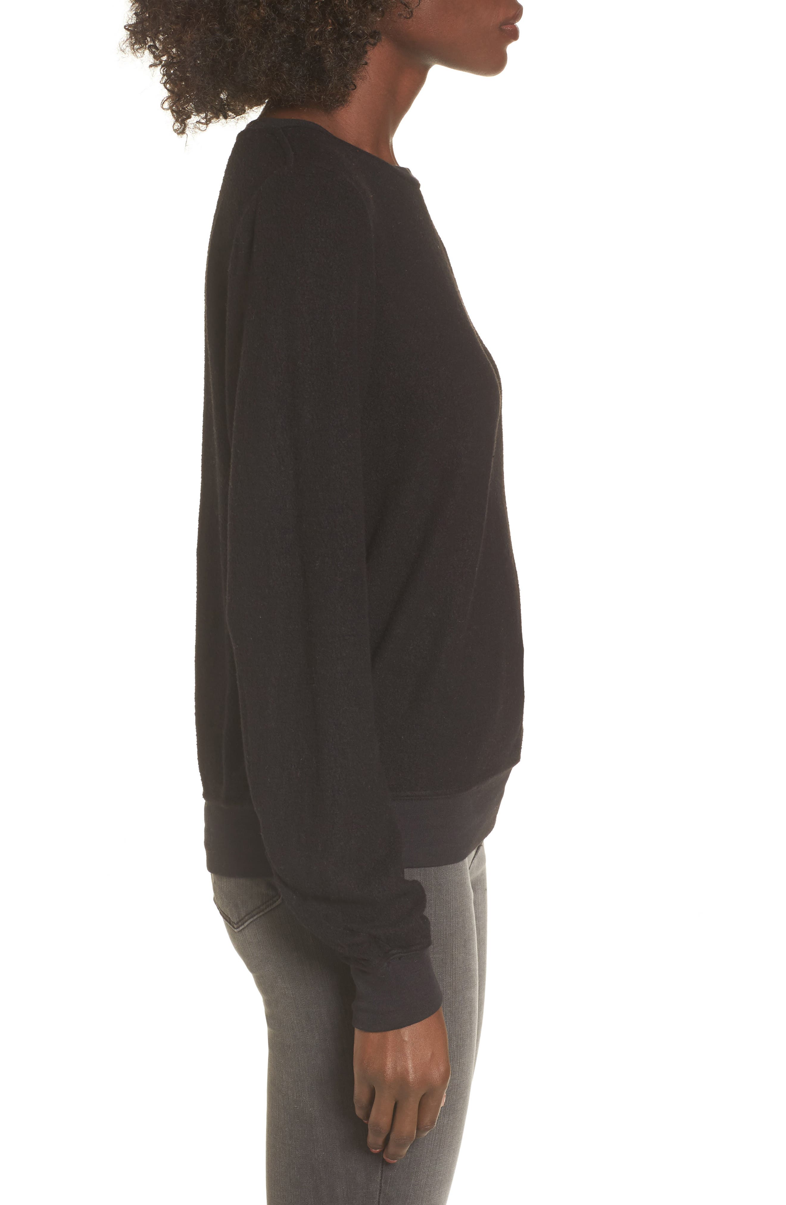 Sweatshirt,                             Alternate thumbnail 3, color,                             Jet Black