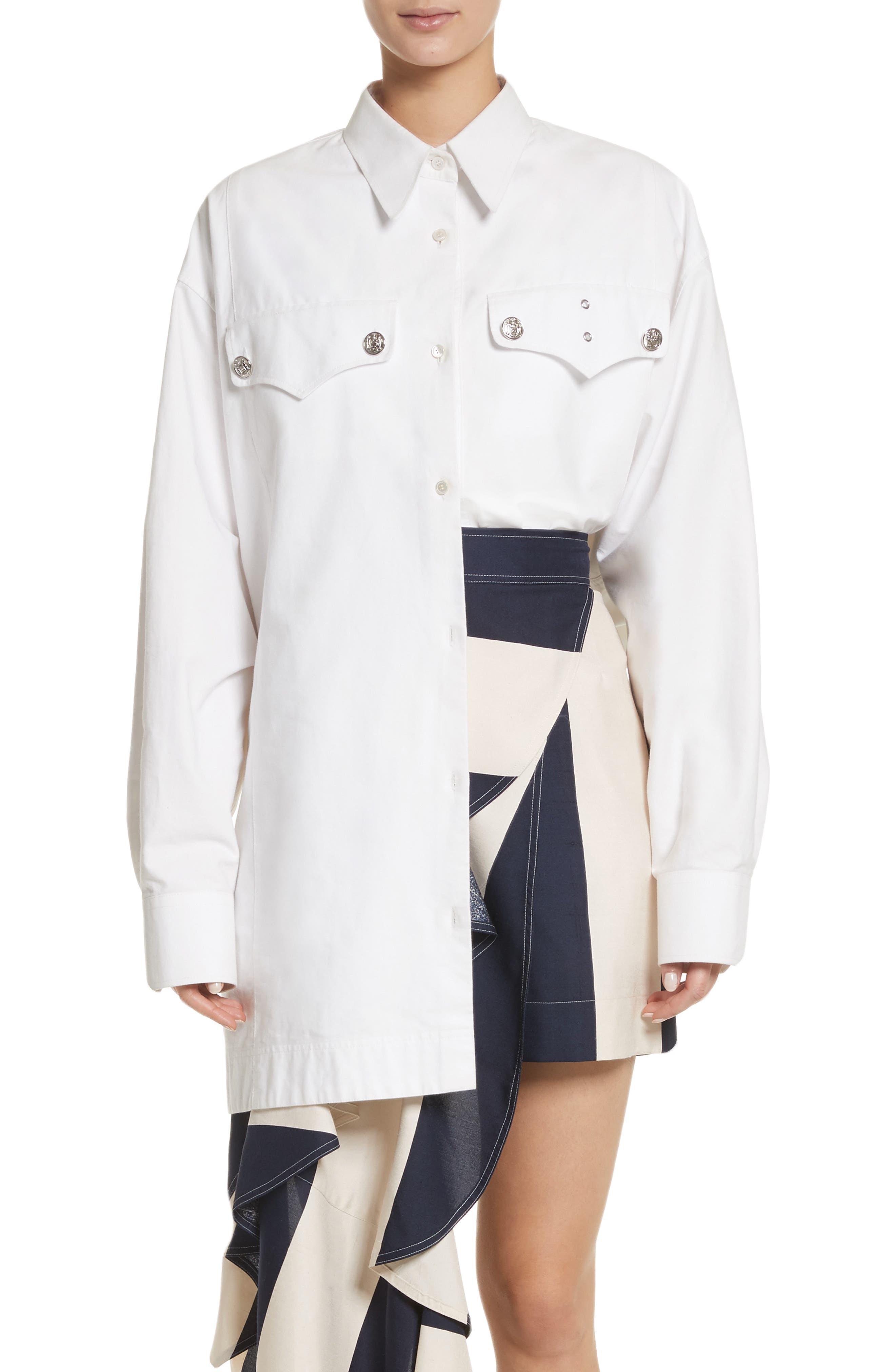 Alternate Image 1 Selected - Calvin Klein 205W39NYC Oversize Policeman Shirt