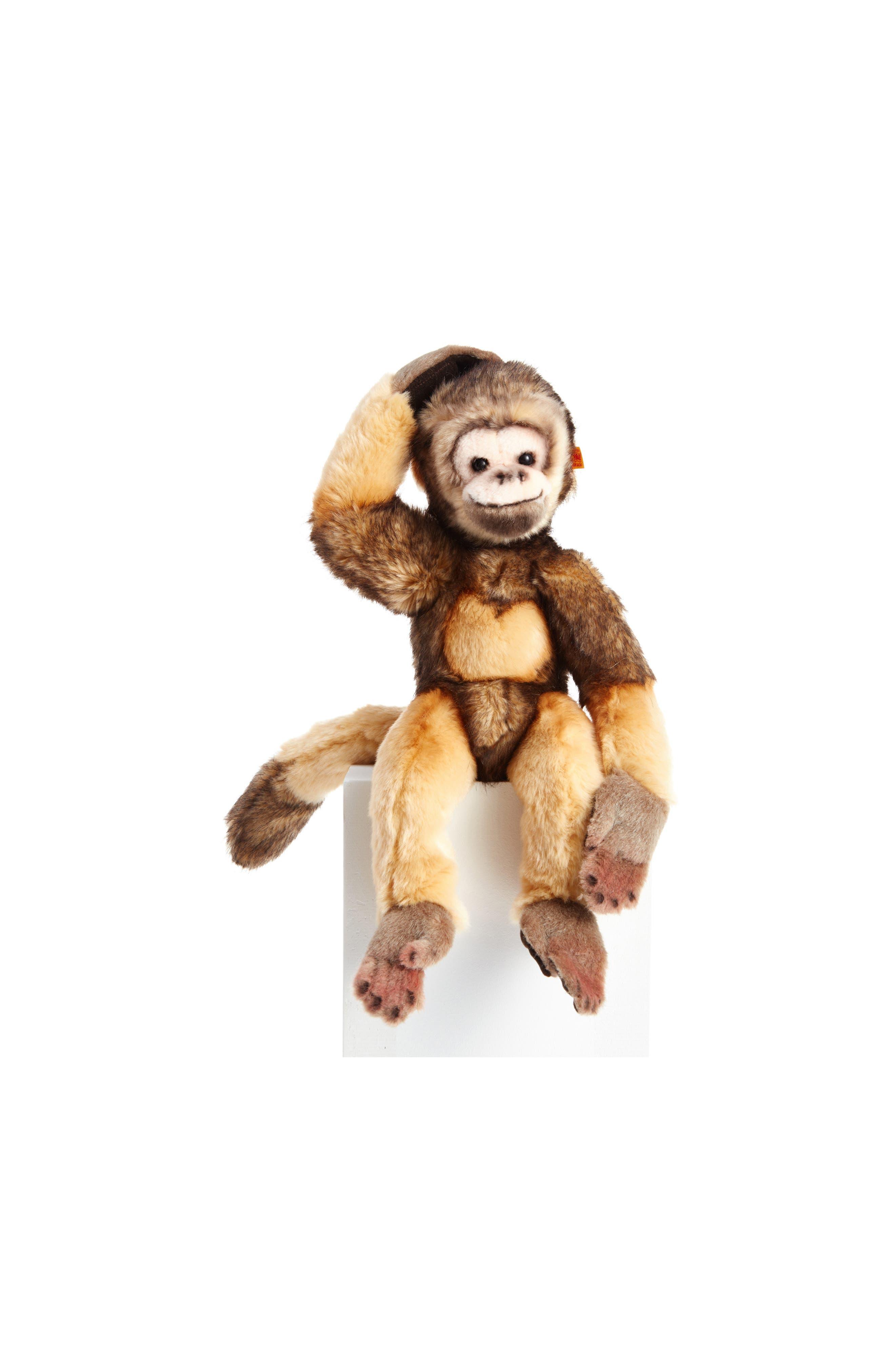 Steiff Mungo the Magnetic Monkey Stuffed Animal