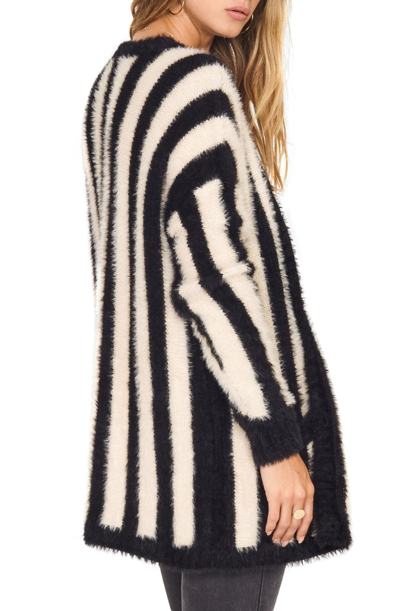 Keep Me Cozy Stripe Sweater,                             Alternate thumbnail 2, color,                             Black Sands