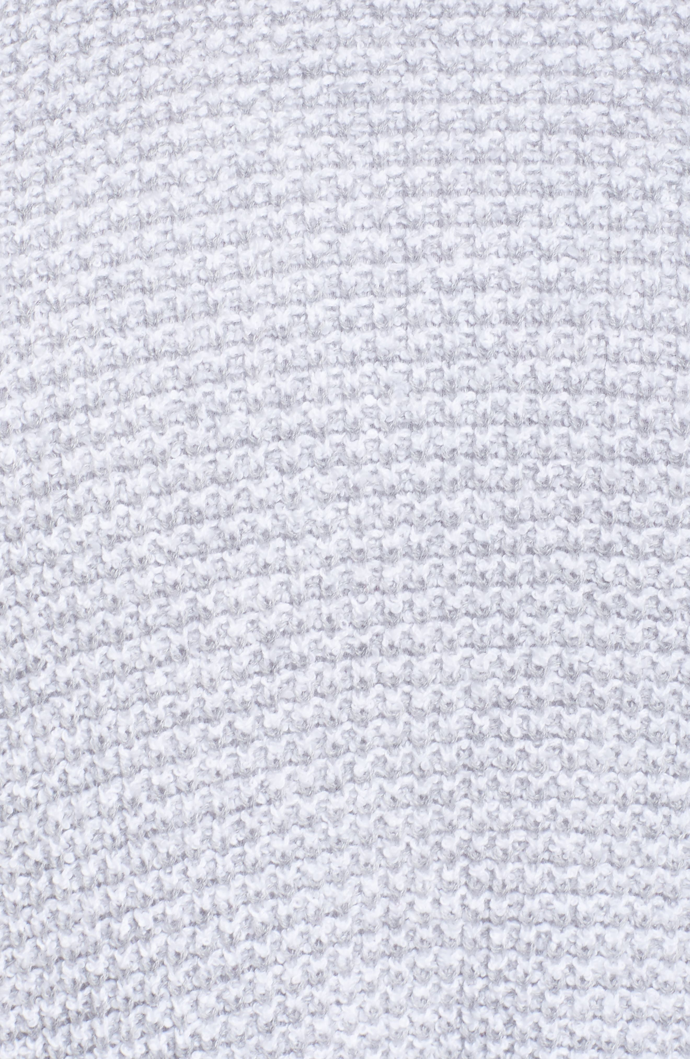 Waffled Organic Cotton Sweater,                             Alternate thumbnail 5, color,                             Grey