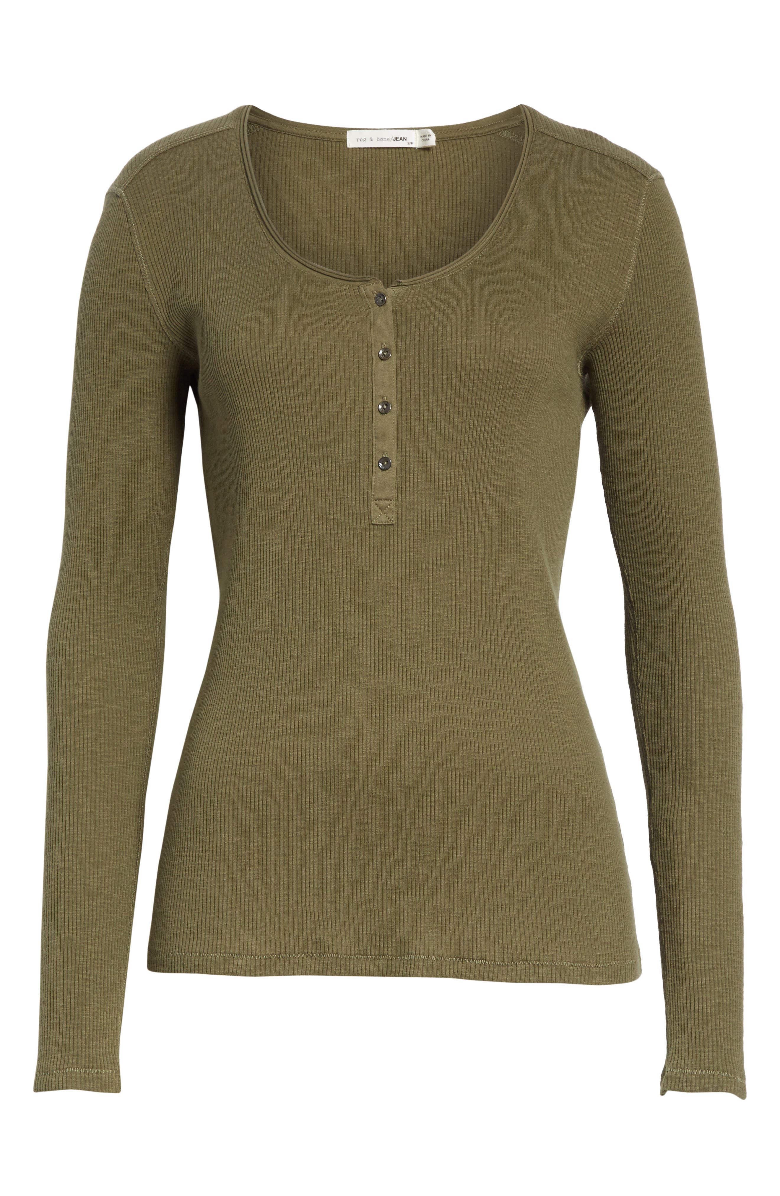 Lilies Henley,                             Alternate thumbnail 6, color,                             Dark Olive
