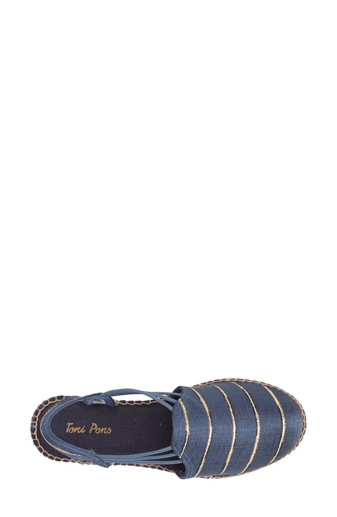 Alternate Image 3  - Toni Pons 'Nantes' Silk Stripe Sandal (Women)