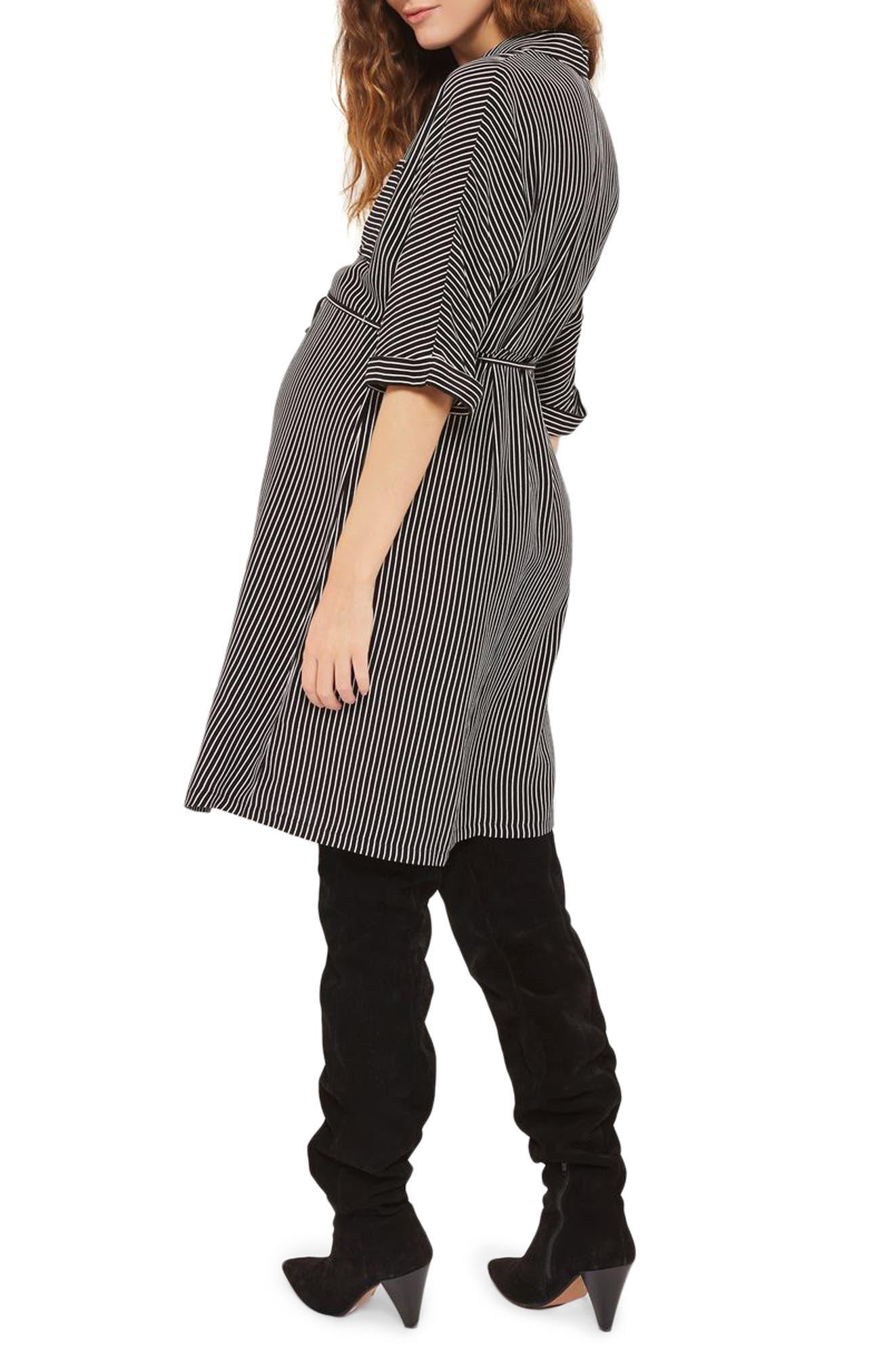 Alternate Image 2  - Topshop Kady Stripe Maternity Shirtdress