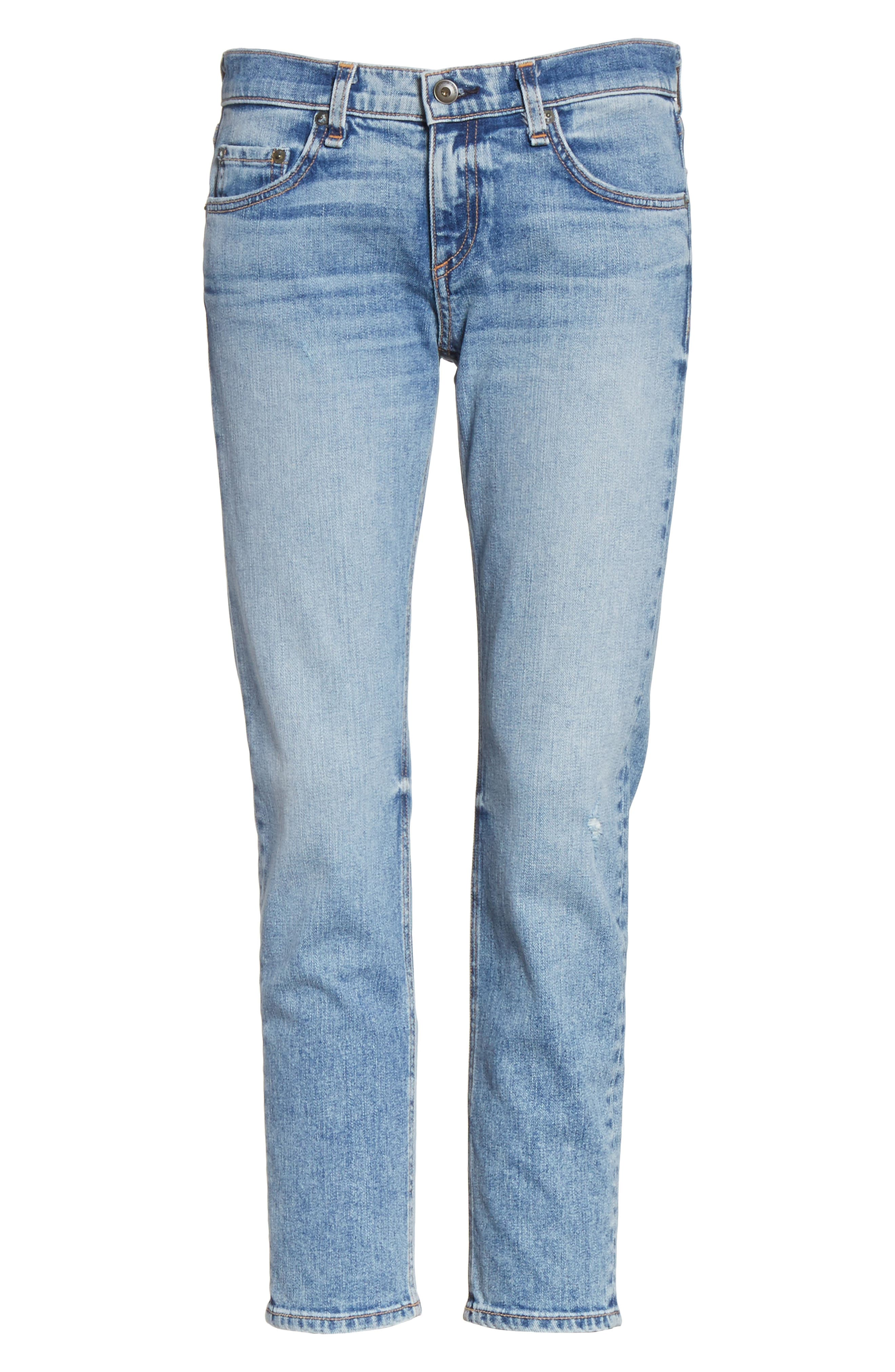 The Dre Ankle Slim Boyfriend Jeans,                             Alternate thumbnail 6, color,                             Alphaville