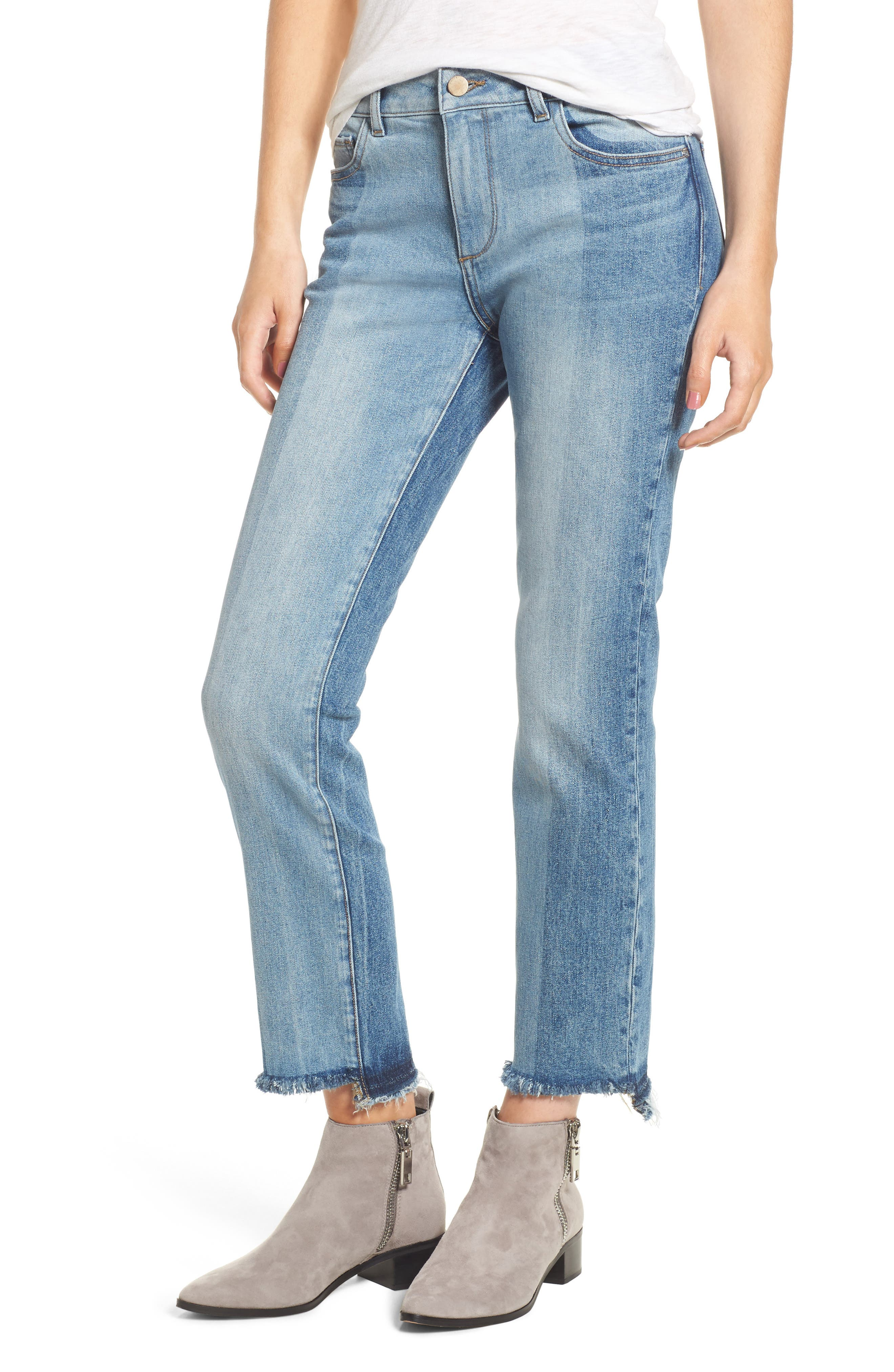 Mara Step Hem Ankle Jeans,                             Main thumbnail 1, color,                             Brookside