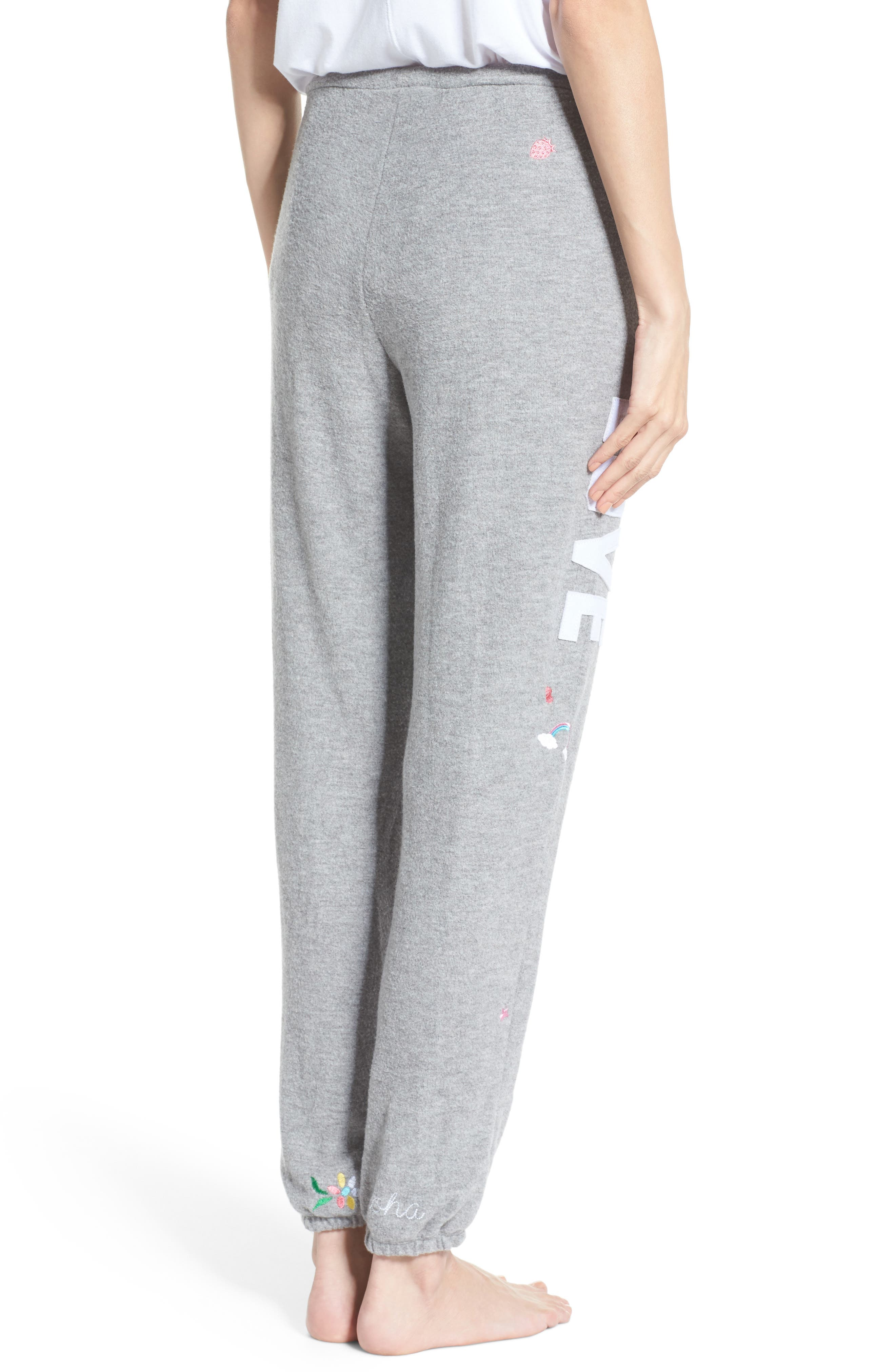 Patched Up Lounge Sweatpants,                             Alternate thumbnail 2, color,                             Heather Grey