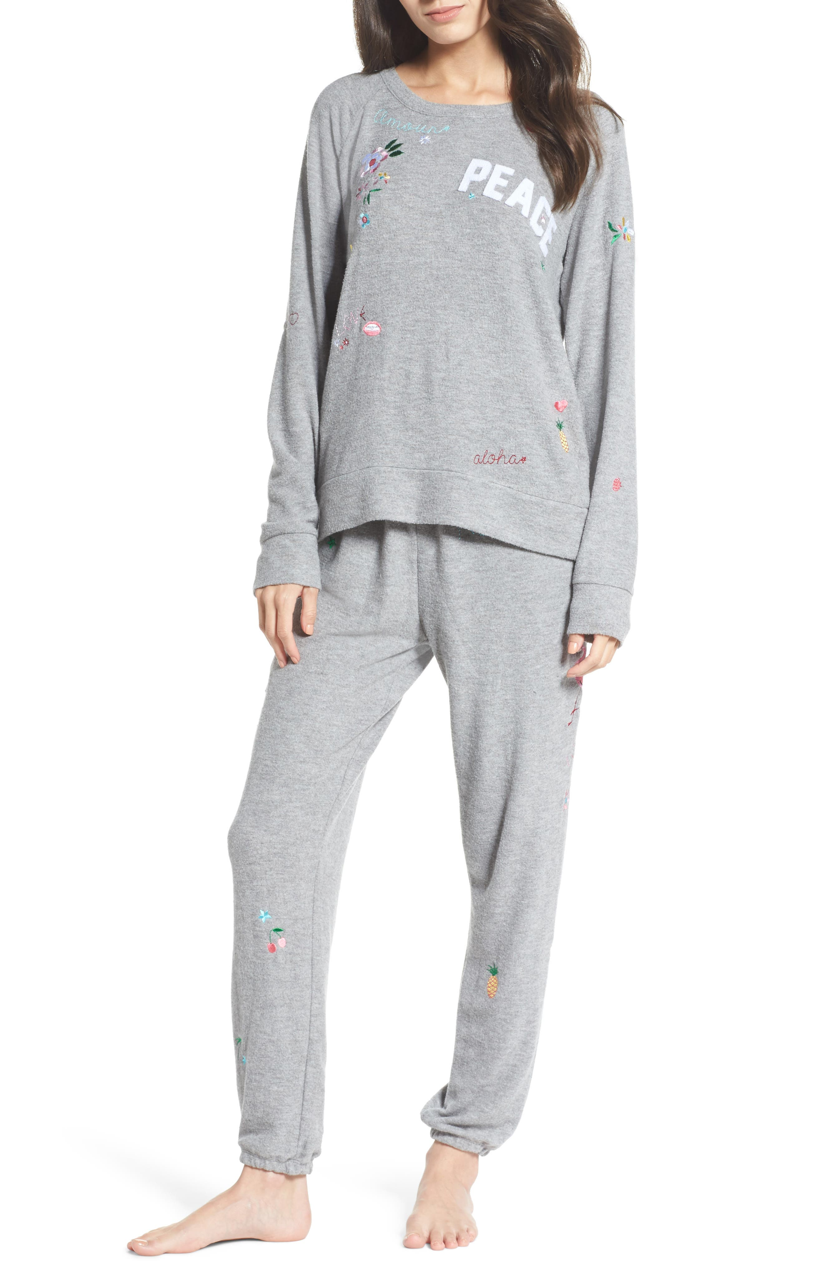 Patched Up Lounge Sweatpants,                             Alternate thumbnail 5, color,                             Heather Grey