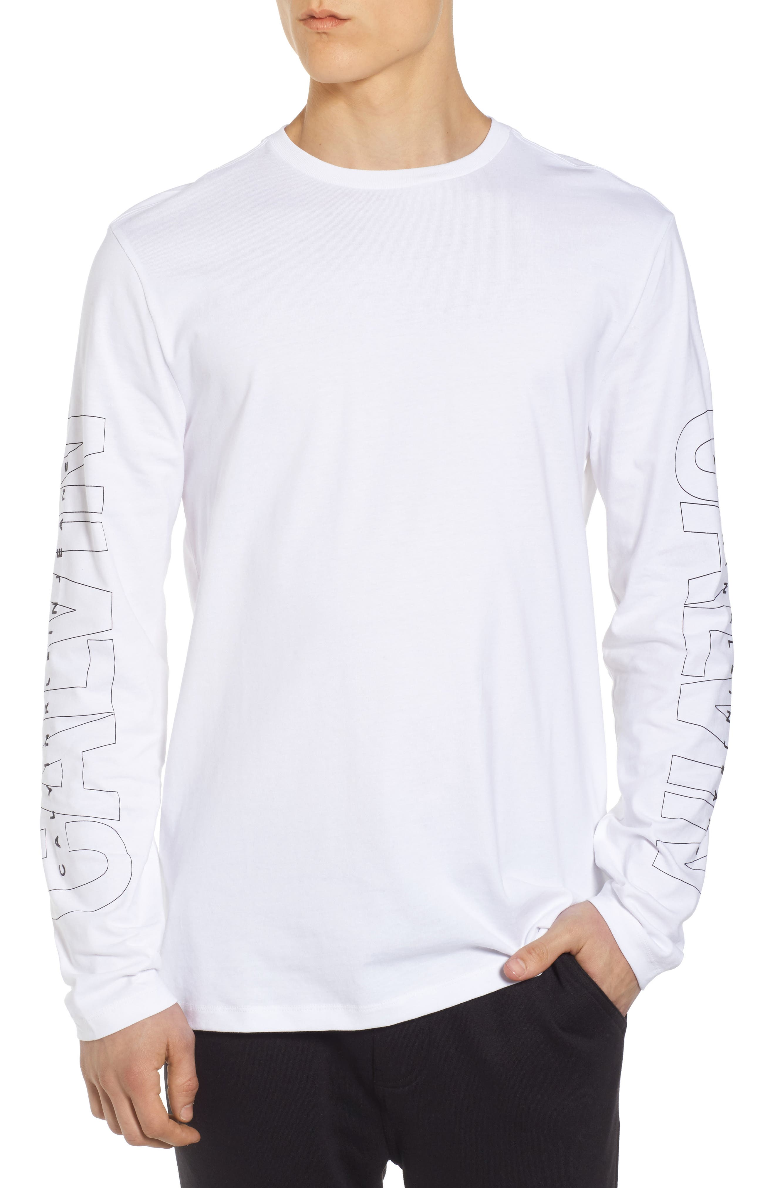 Logo T-Shirt,                         Main,                         color, Standard White