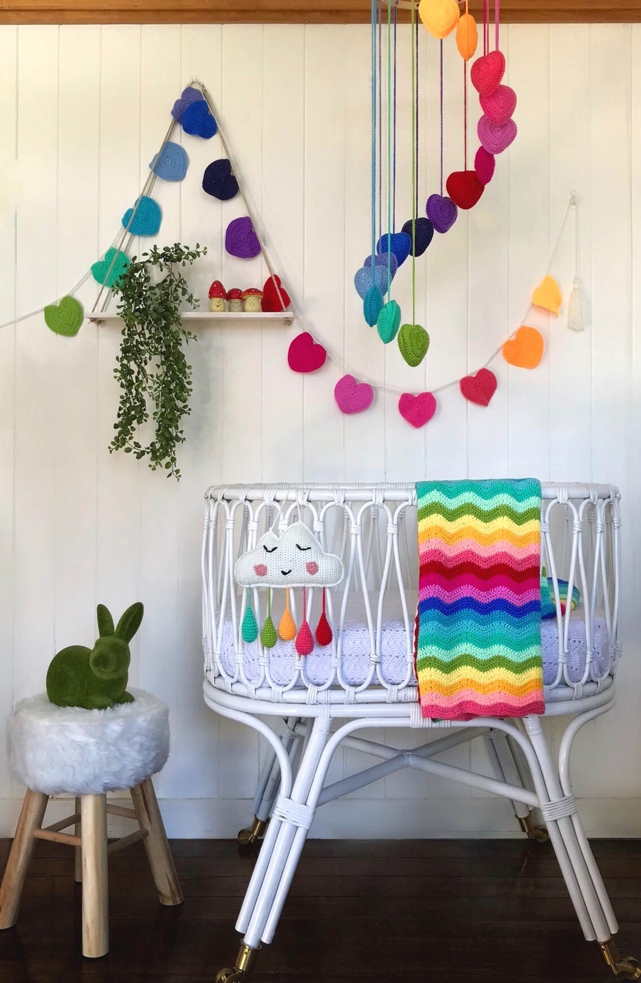 Alternate Image 7  - O.B. Designs Ripple Crocheted Blanket (Baby)