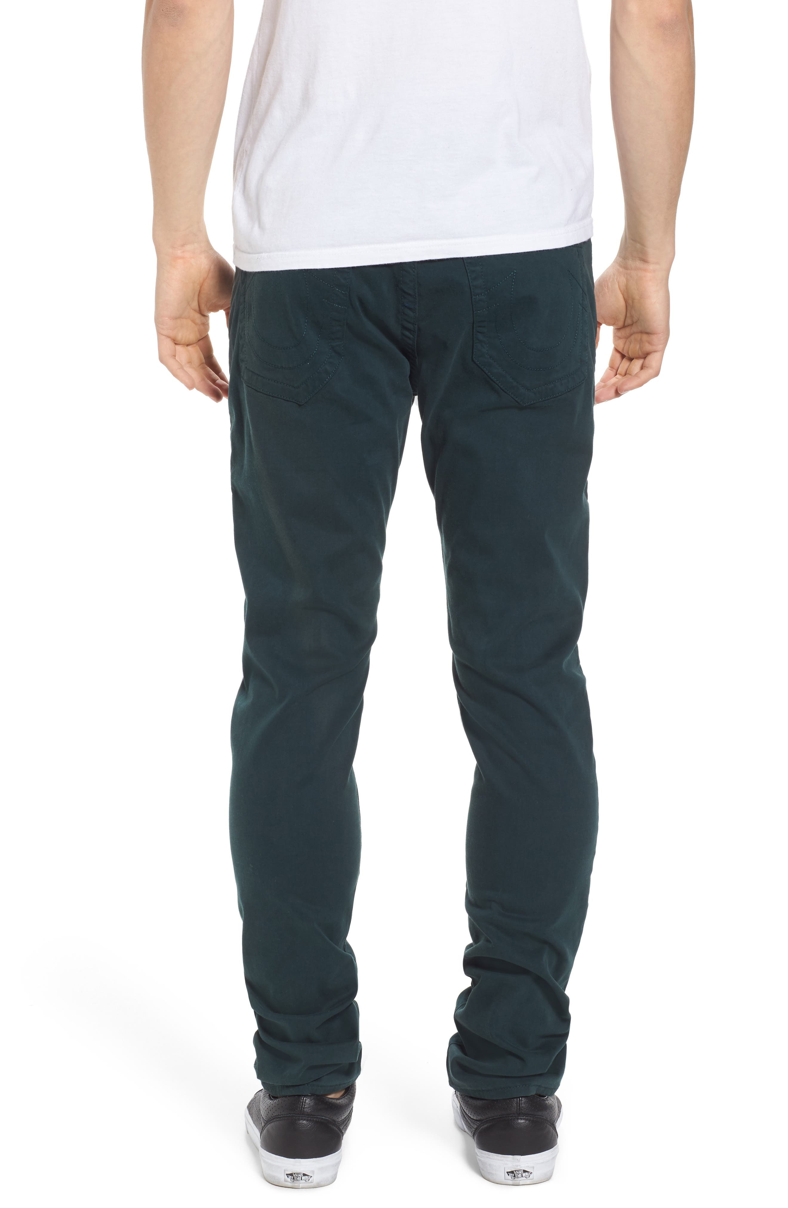 Rocco Skinny Fit Jeans,                             Alternate thumbnail 2, color,                             Hunter Green