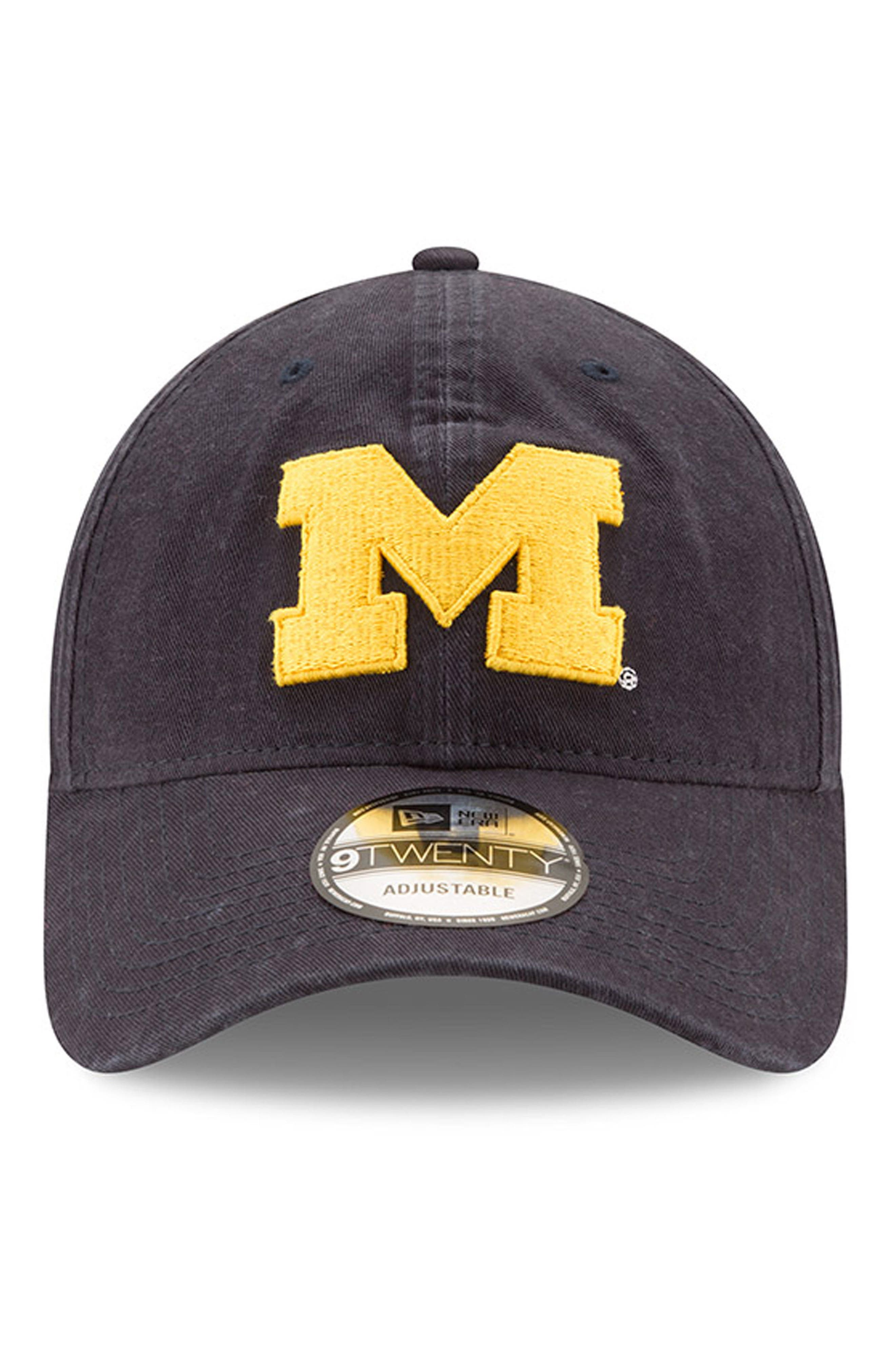 New Era Collegiate Core Classic - Michigan Wolverines Baseball Cap,                             Alternate thumbnail 5, color,                             Michigan Wolverines
