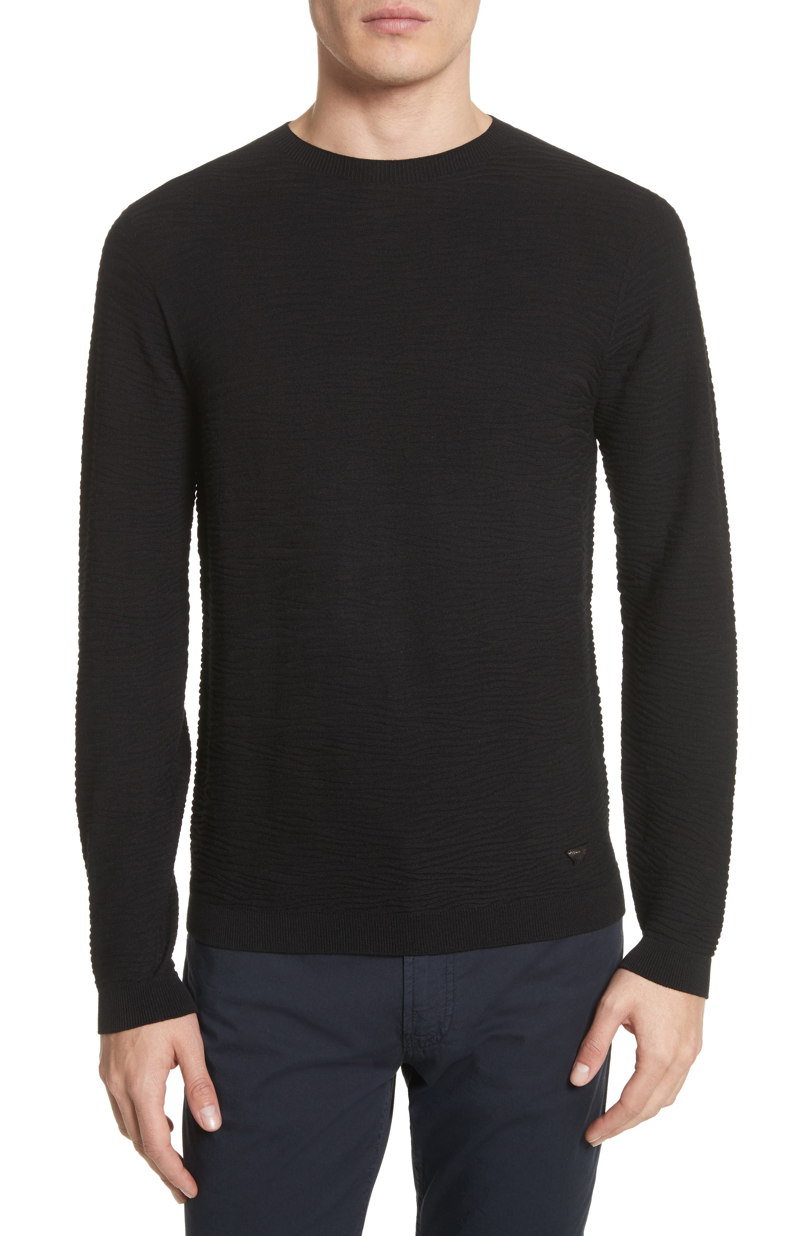 Alternate Image 1 Selected - Emporio Armani Slim Fit Allover Links Sweater