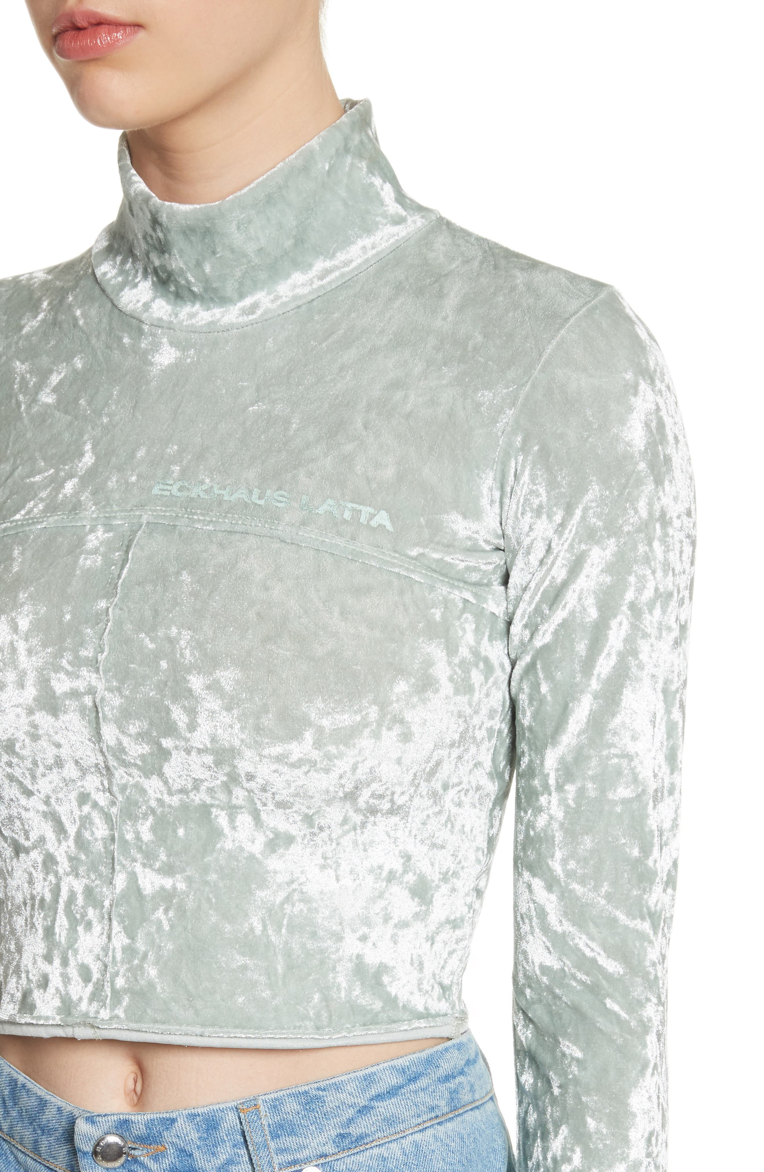 Lapped Baby Turtleneck,                             Alternate thumbnail 4, color,                             Ice