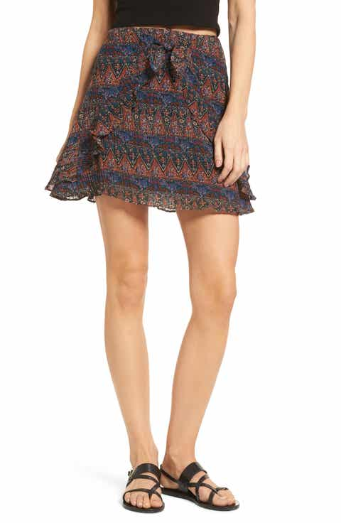 Lost + Wander Bali Tie Front Skirt Online Cheap