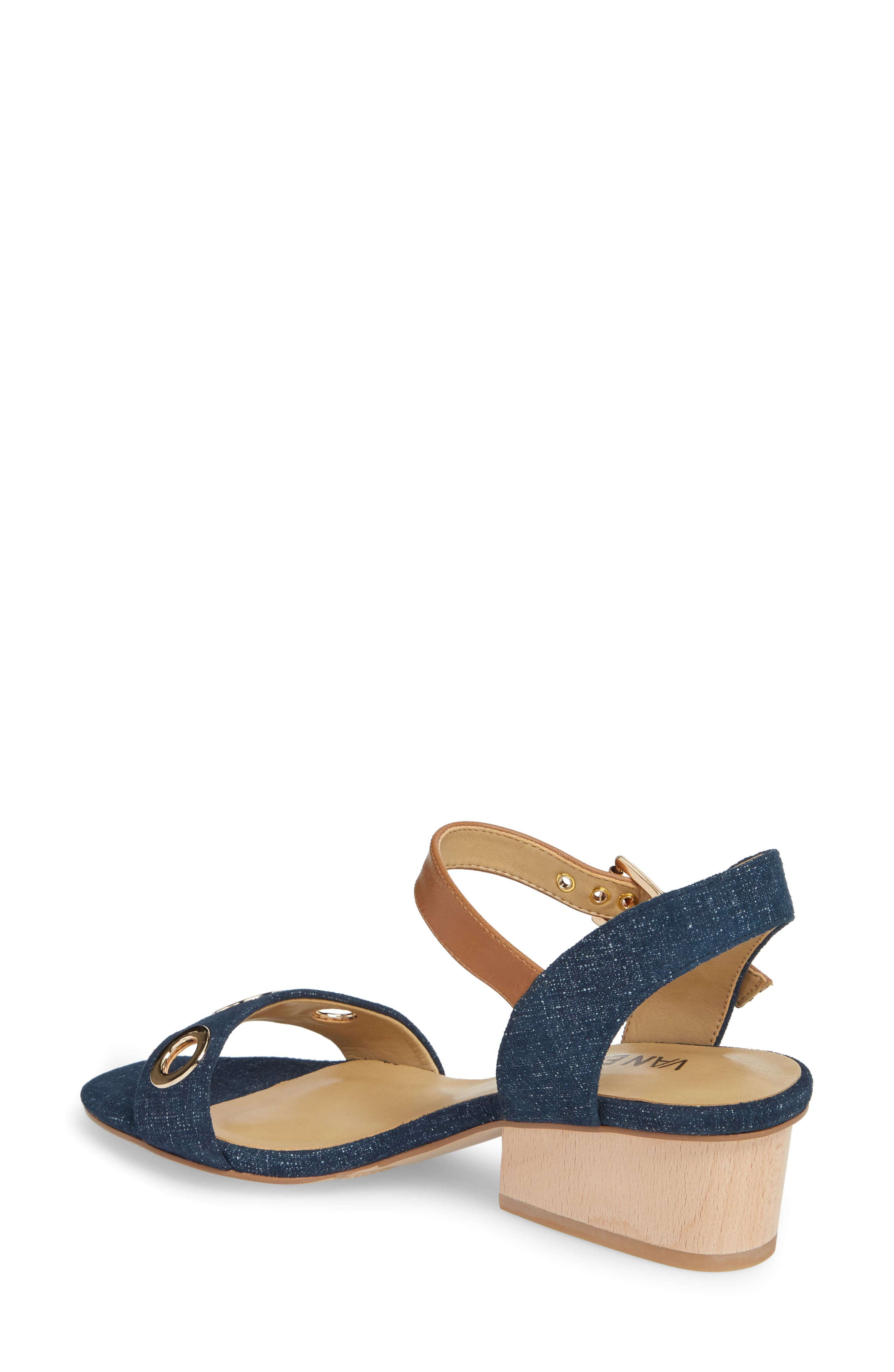 Chaddy Sandal,                             Alternate thumbnail 2, color,                             Jeans Printed Suede