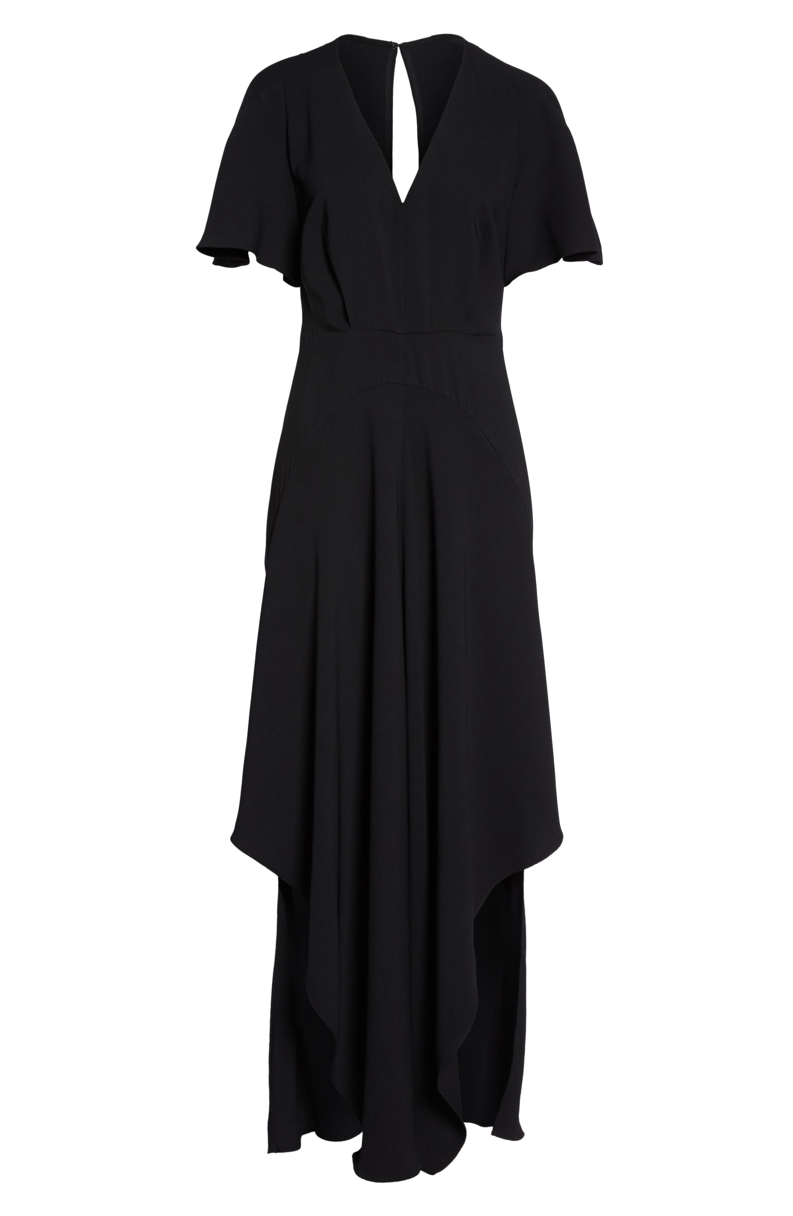 Kerry Maxi Dress,                             Alternate thumbnail 6, color,                             Black
