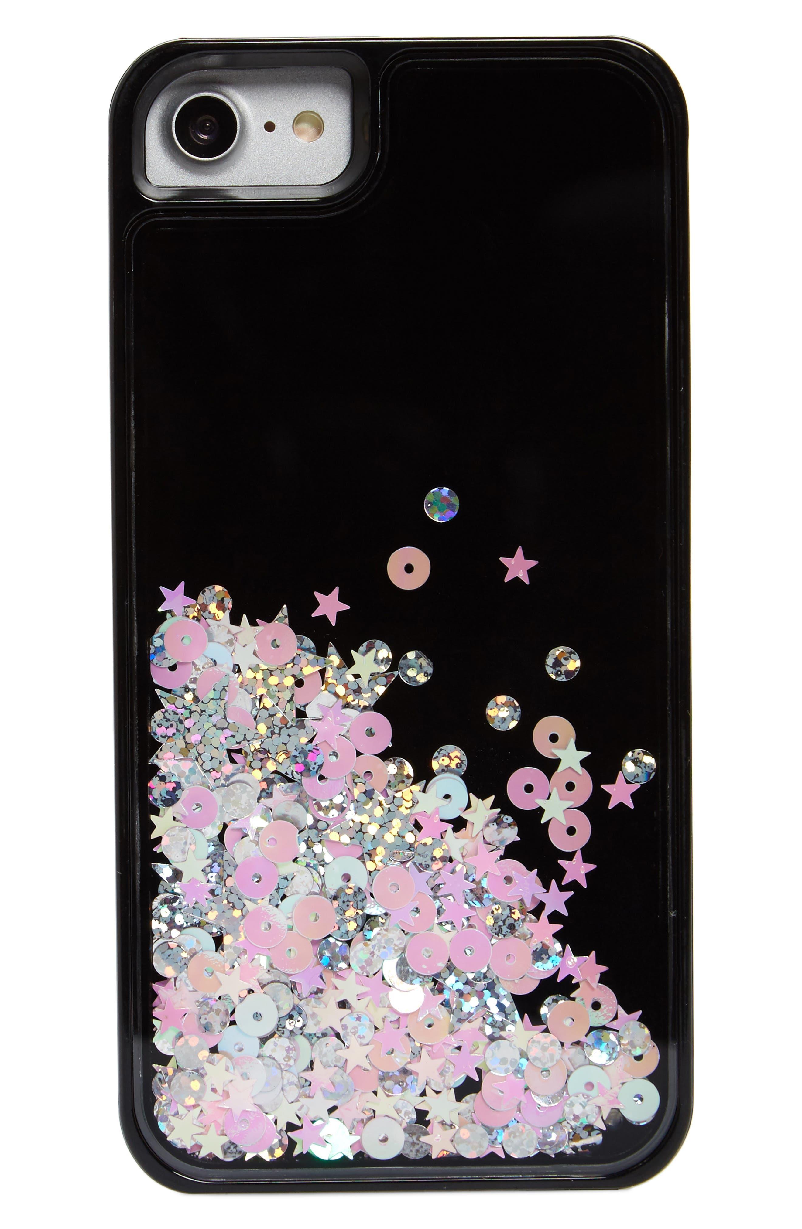 Skinny Dip Castor iPhone 6/6s/7/8 & 6/6s/7/8 Plus Case,                             Main thumbnail 1, color,                             Black