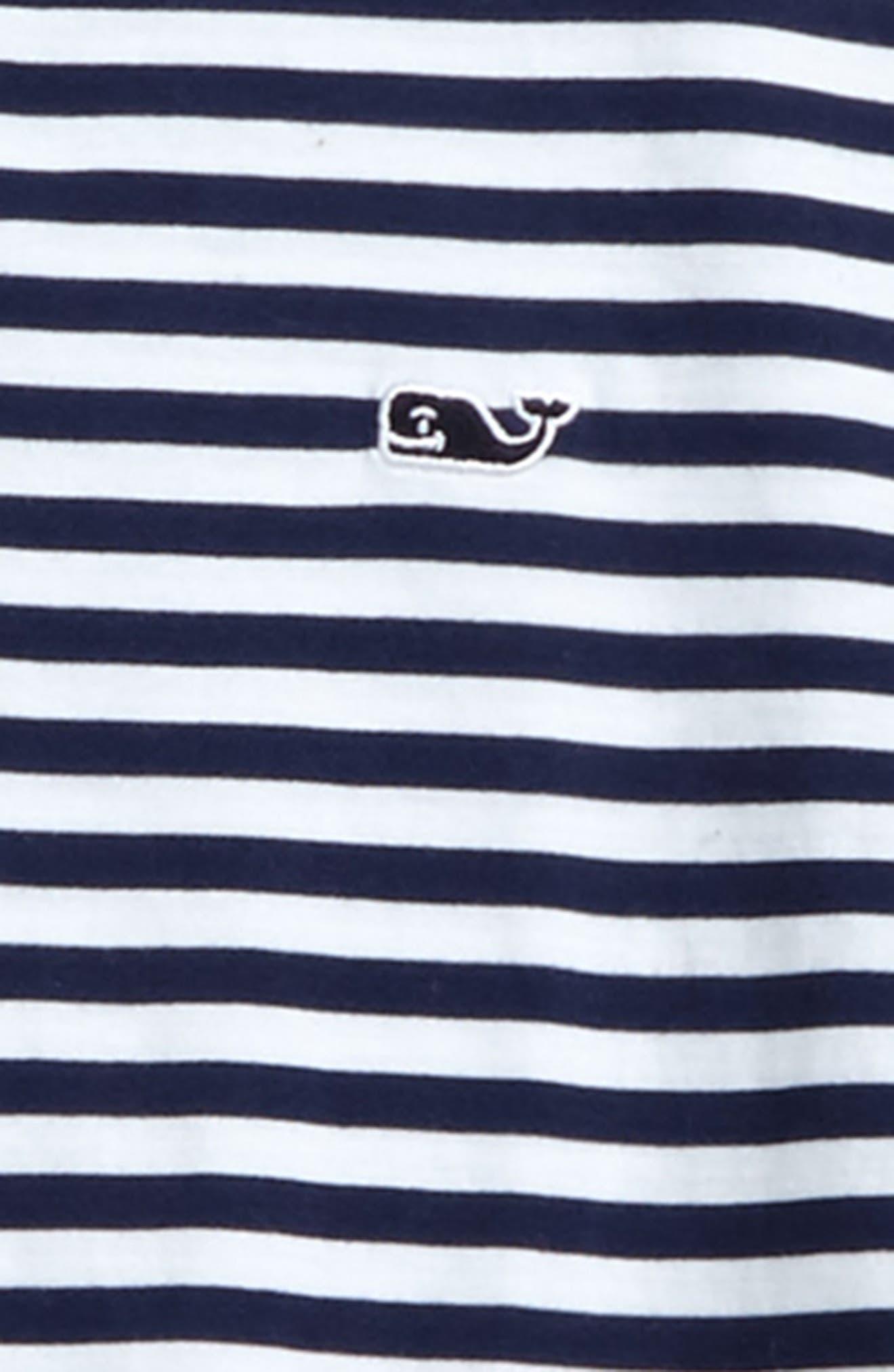 Stripe Long Sleeve Polo,                             Alternate thumbnail 2, color,                             Deep Bay