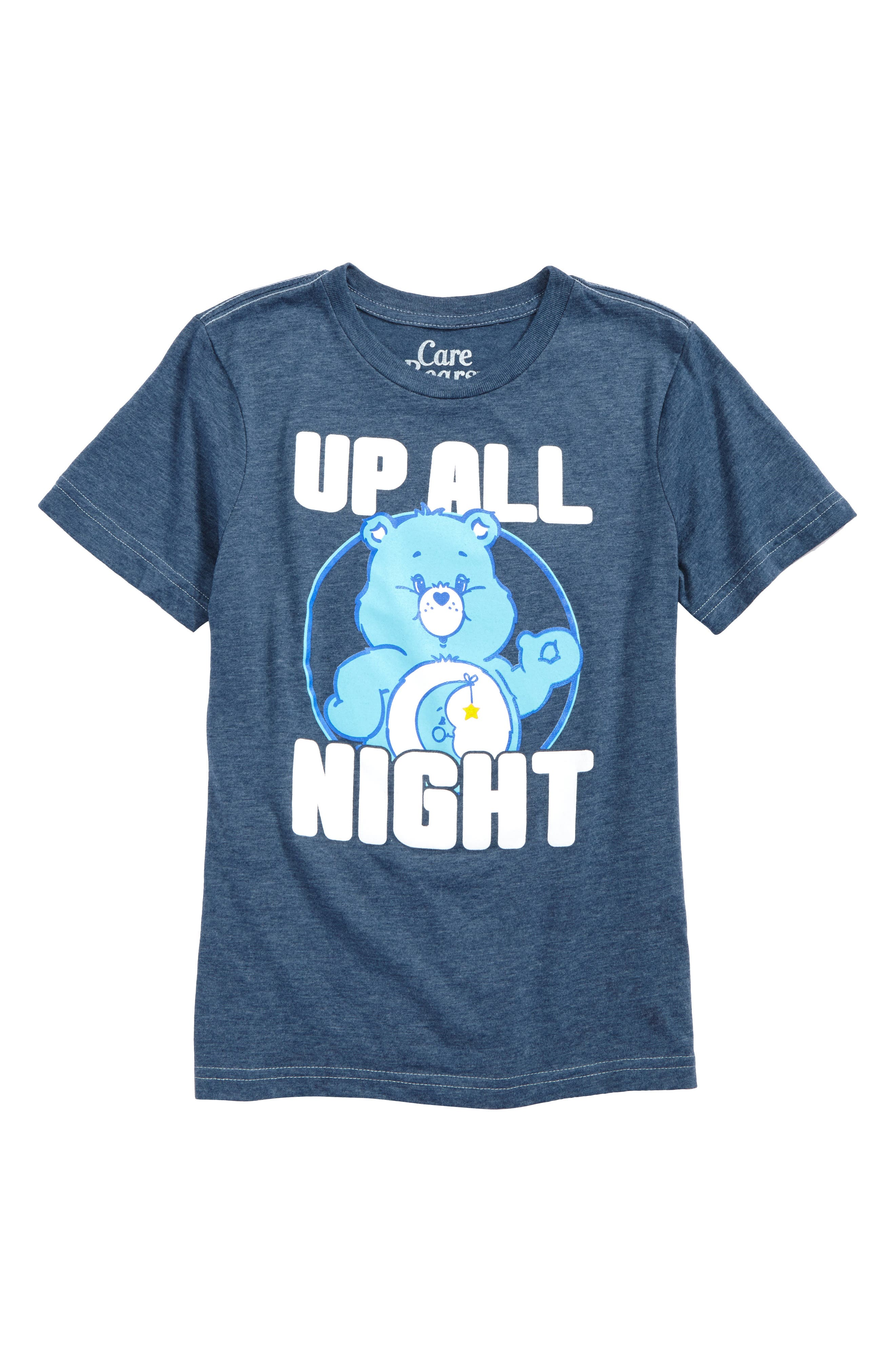 Care Bears<sup>™</sup> Up All Night T-Shirt,                             Main thumbnail 1, color,                             Blue