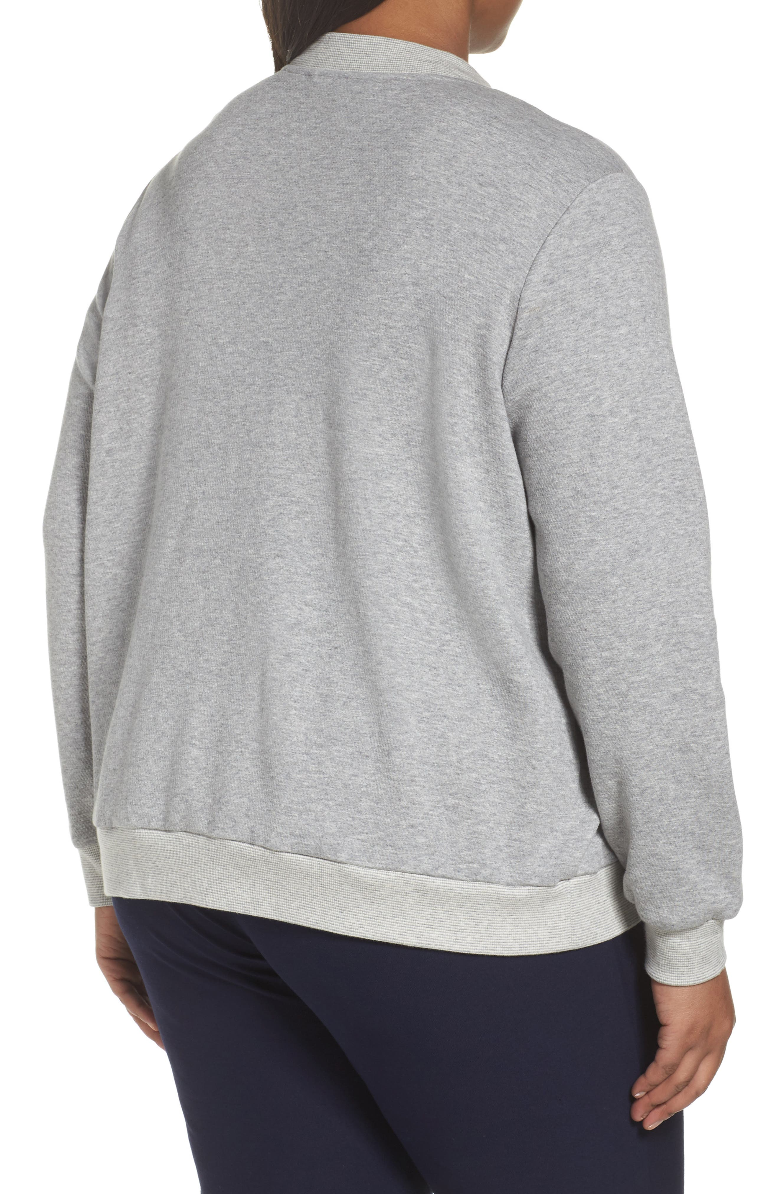 Alternate Image 2  - Eileen Fisher Knit Bomber Jacket (Plus Size)