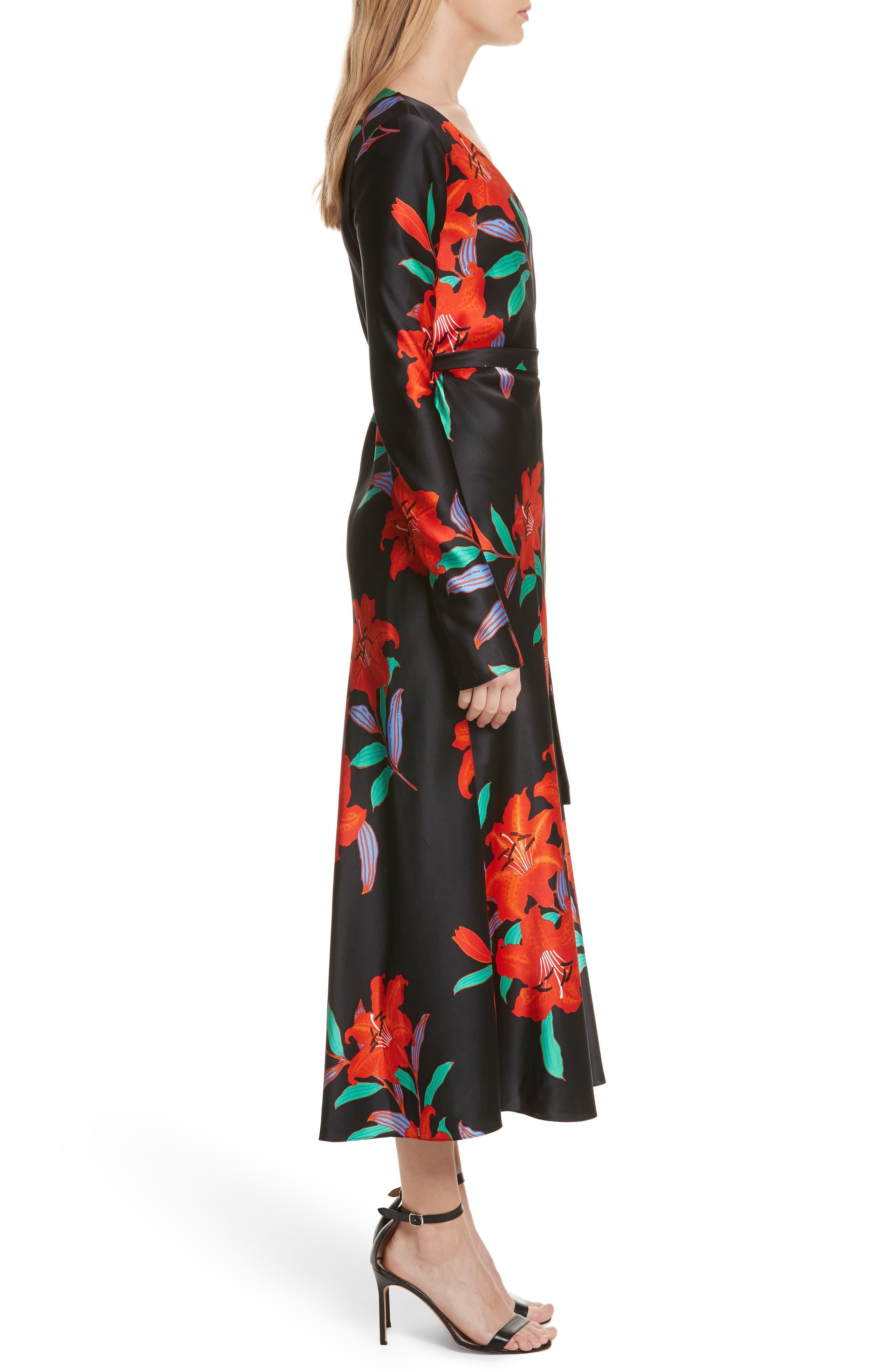 Alternate Image 3  - Diane von Furstenberg Floral Print Wrap Silk Dress