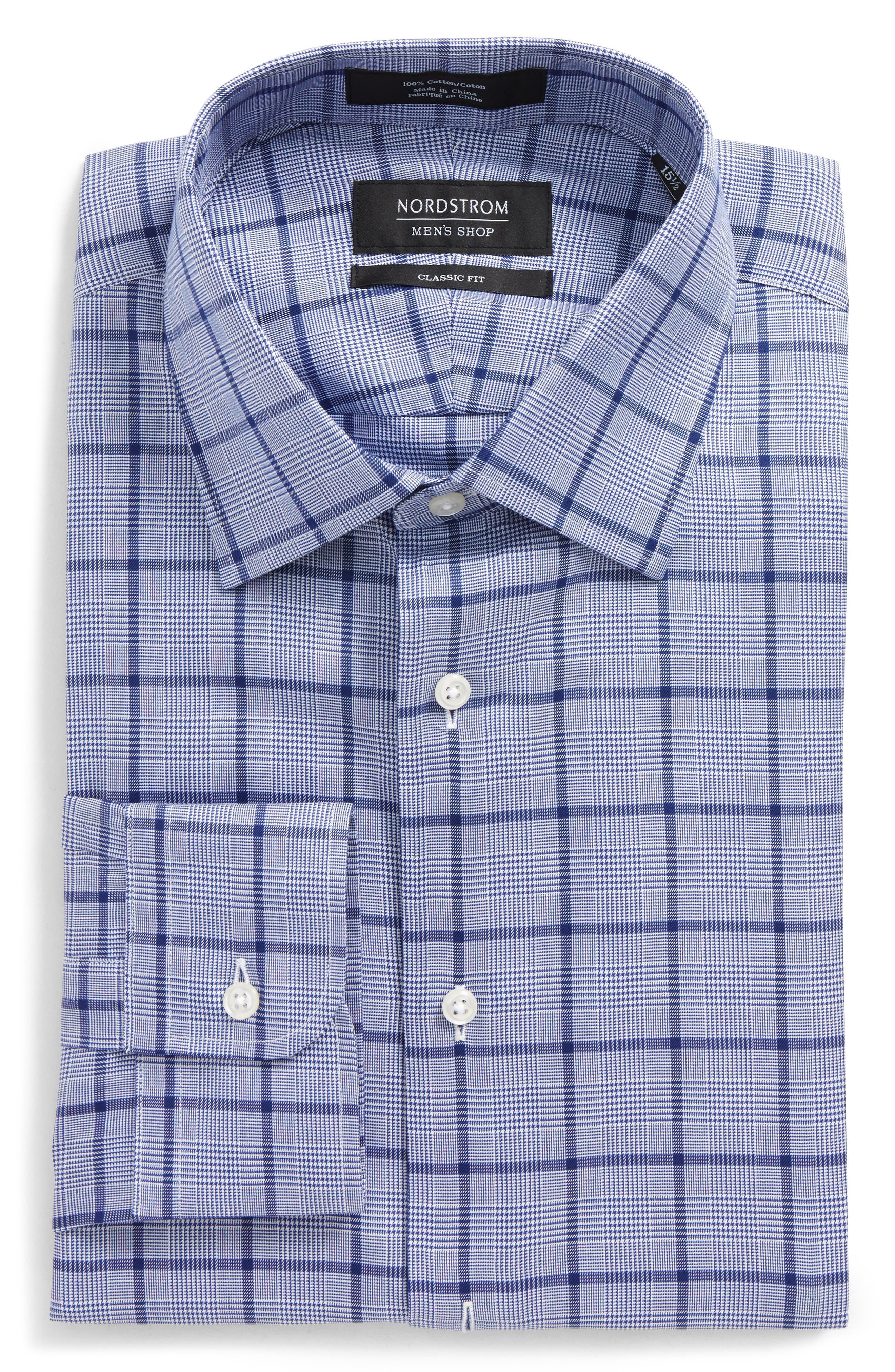 Alternate Image 6  - Nordstrom Men's Shop Trim Fit Check Dress Shirt
