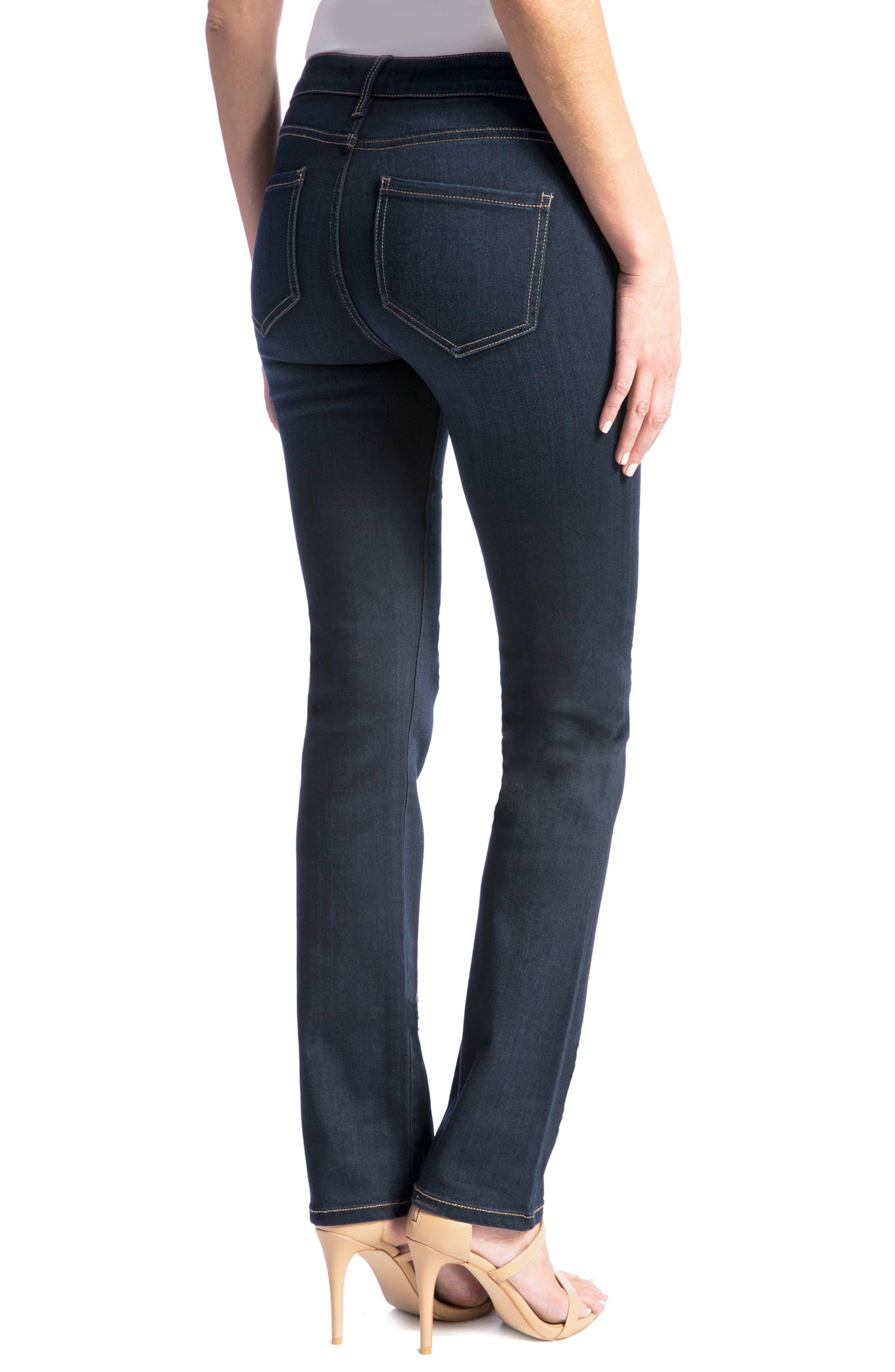 Sadie Straight Jeans,                             Alternate thumbnail 4, color,                             Stone Wash