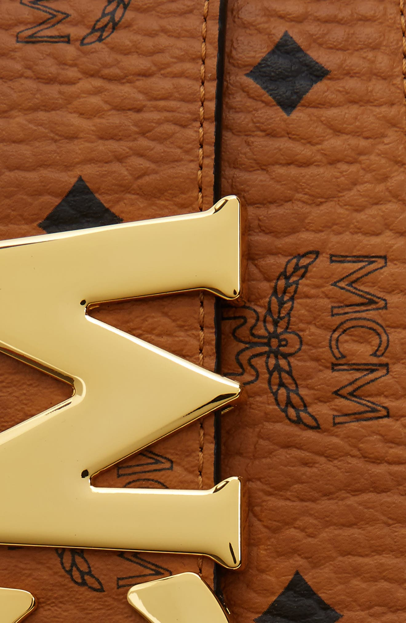 Letter Coated Canvas Belt,                             Alternate thumbnail 2, color,                             Cognac