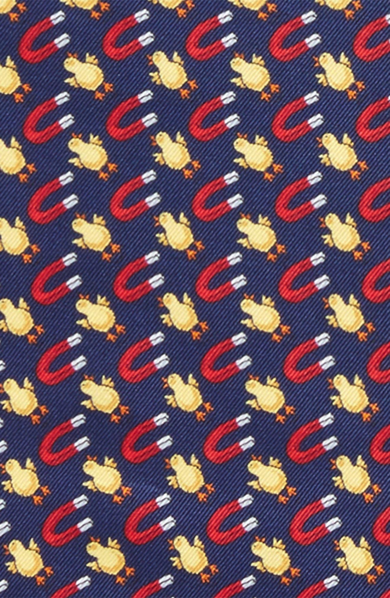Chick Magnet Silk Pocket Square,                             Alternate thumbnail 3, color,                             Navy