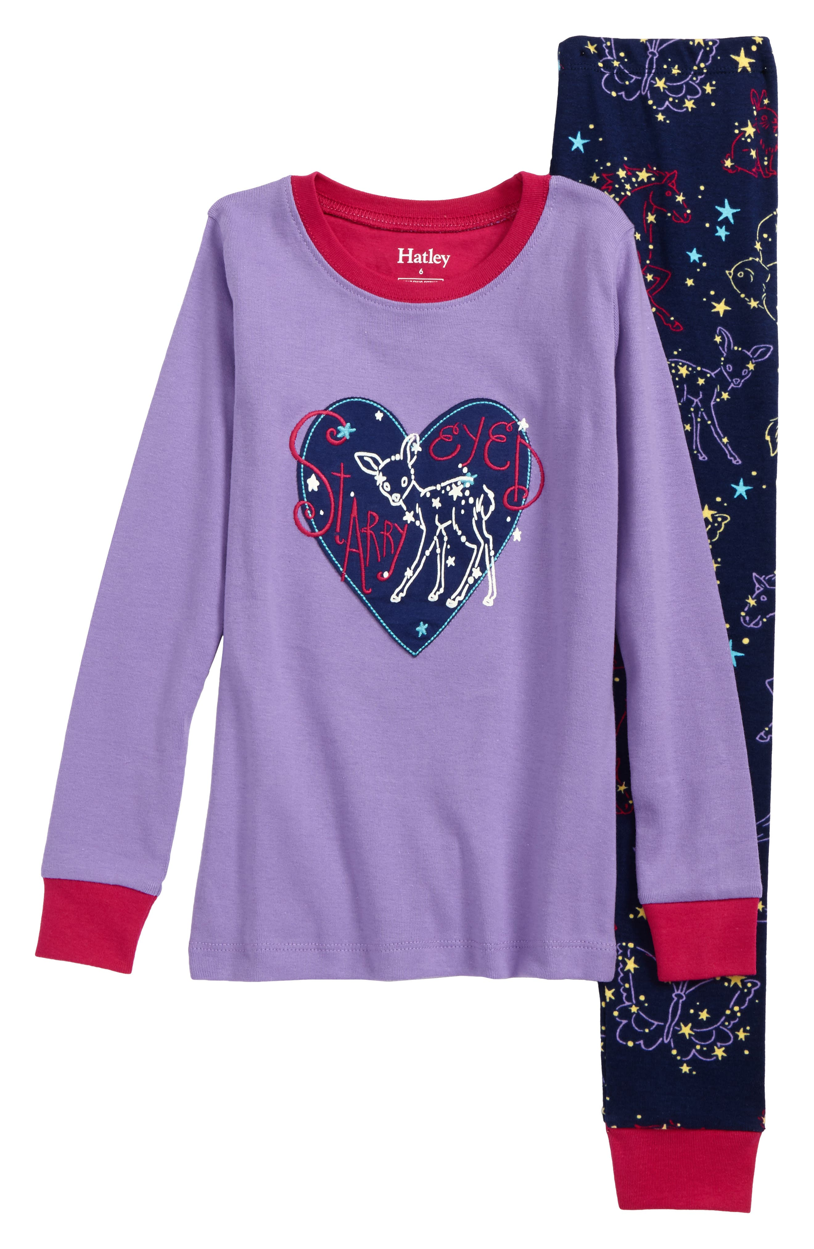 Hatley Appliqué Two-Piece Fitted Pajamas (Toddler Girls, Little Girls and Big Girls)