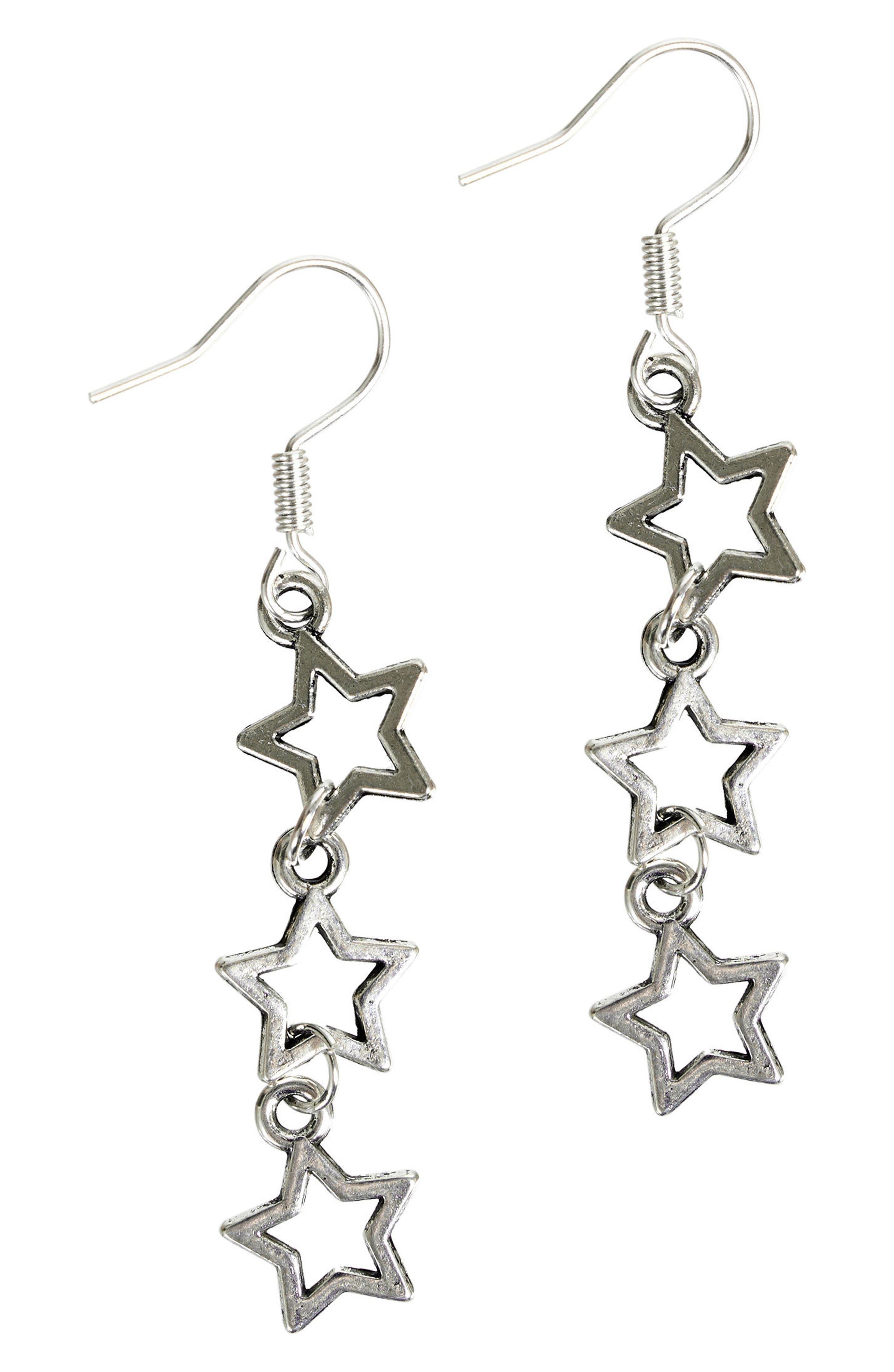 The Lyra Drop Earrings,                         Main,                         color, Silver