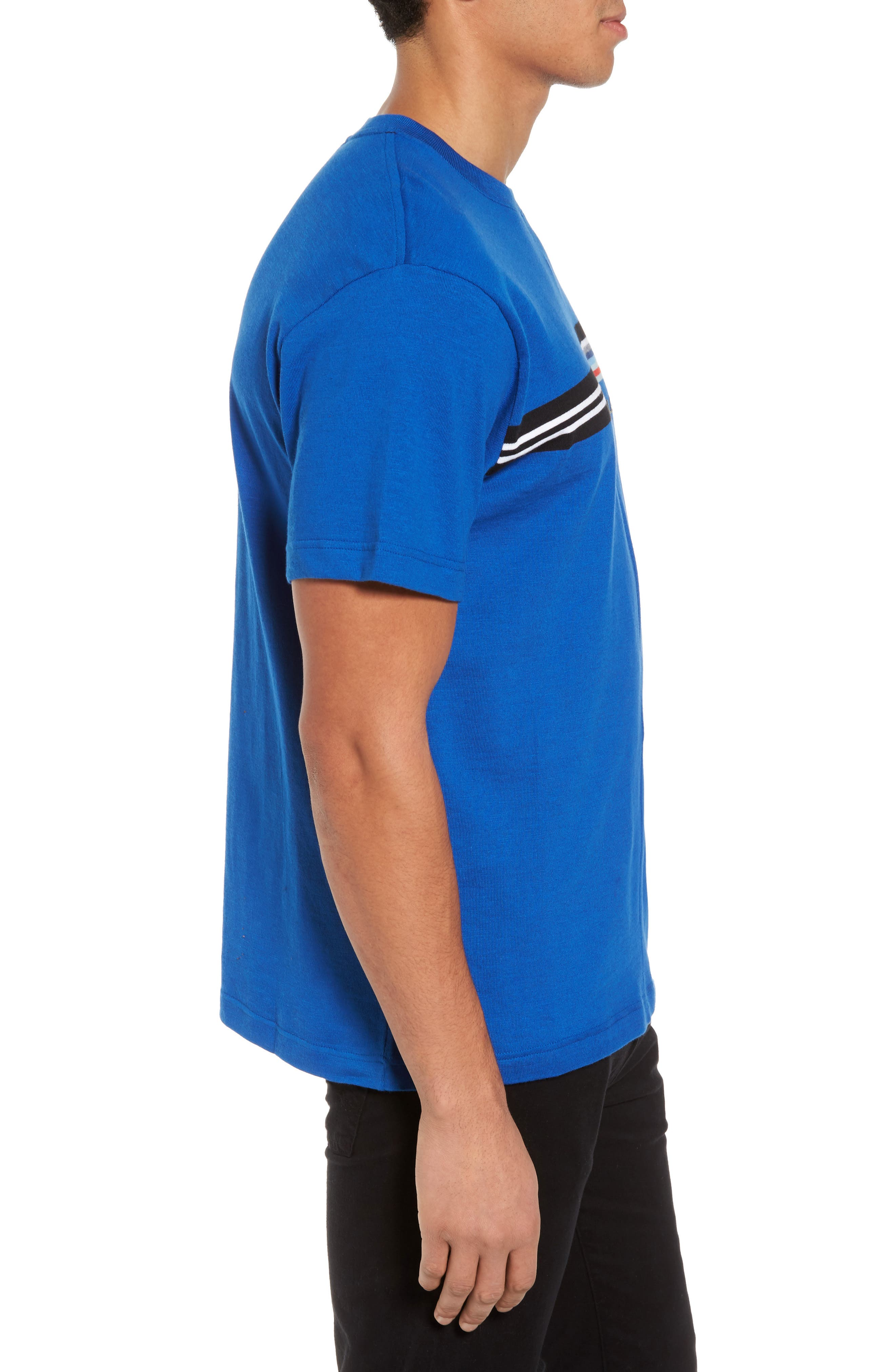 Mouline T-Shirt,                             Alternate thumbnail 3, color,                             Qzp Royal/ Multico