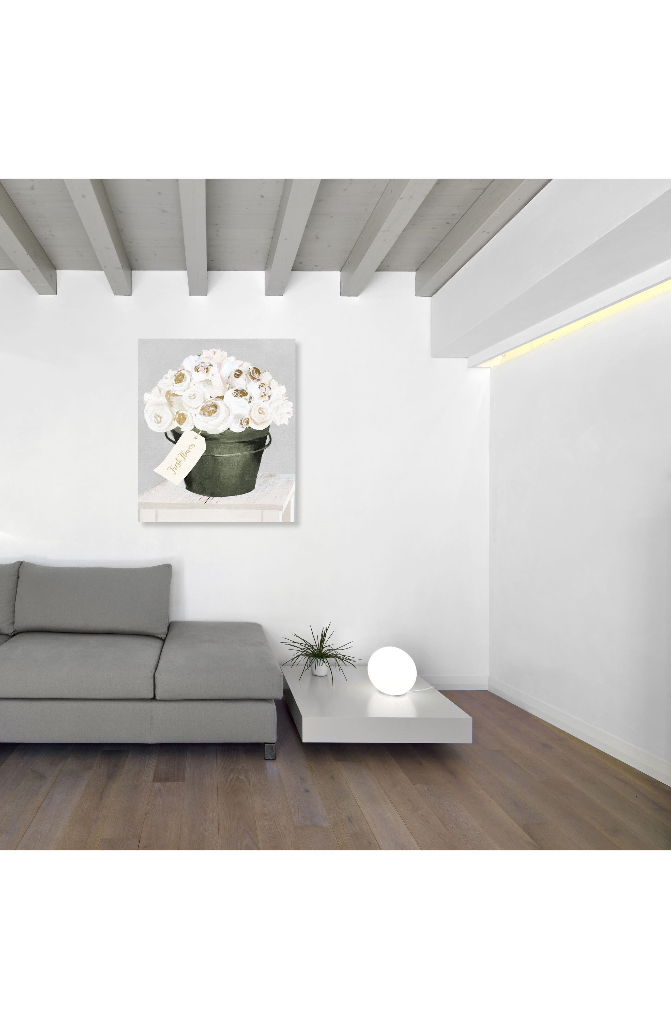 Alternate Image 2  - Oliver Gal Bucket Full of Gold Roses Canvas Wall Art