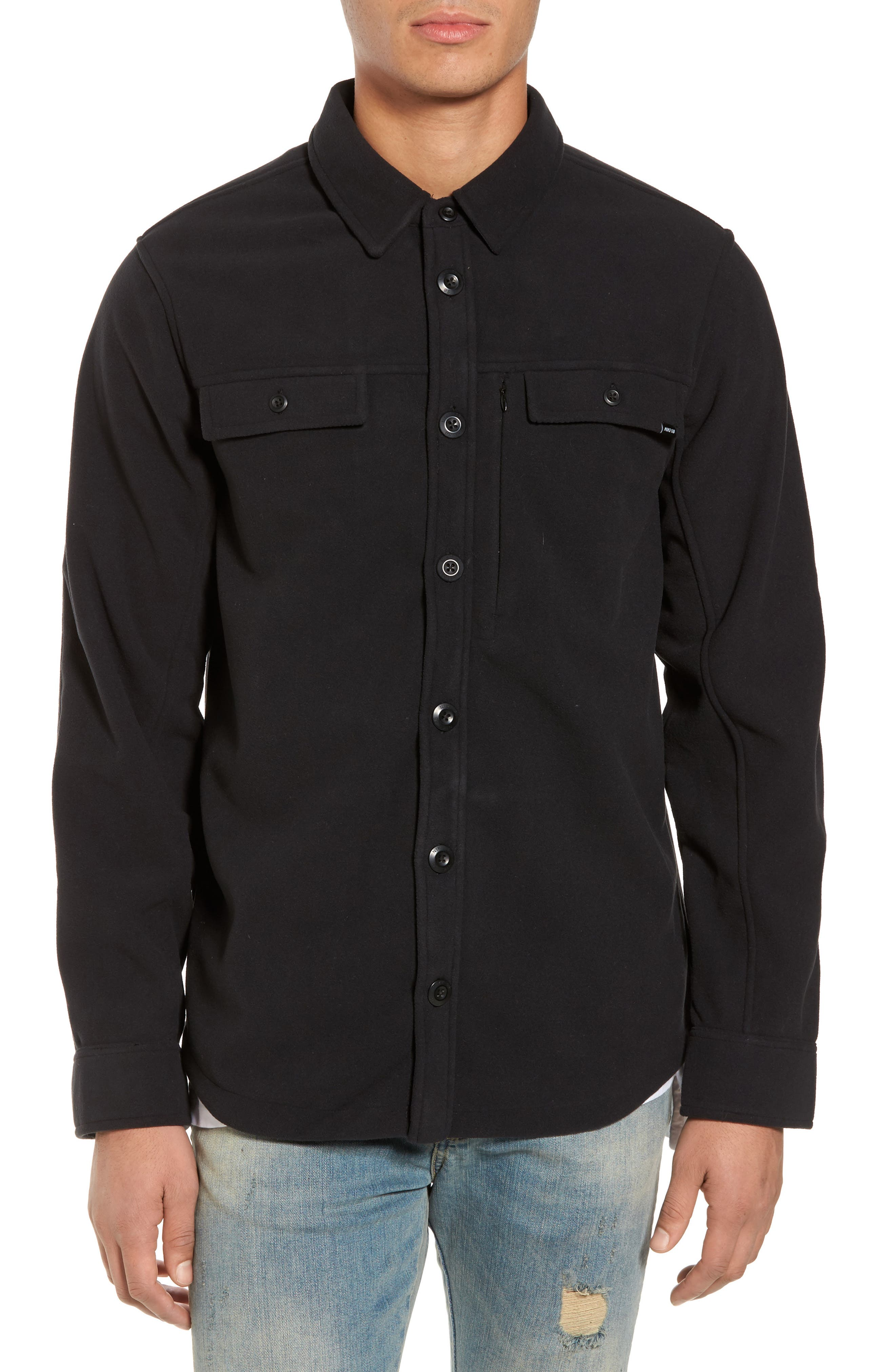 Holgate Windstopper Shirt,                         Main,                         color, Black