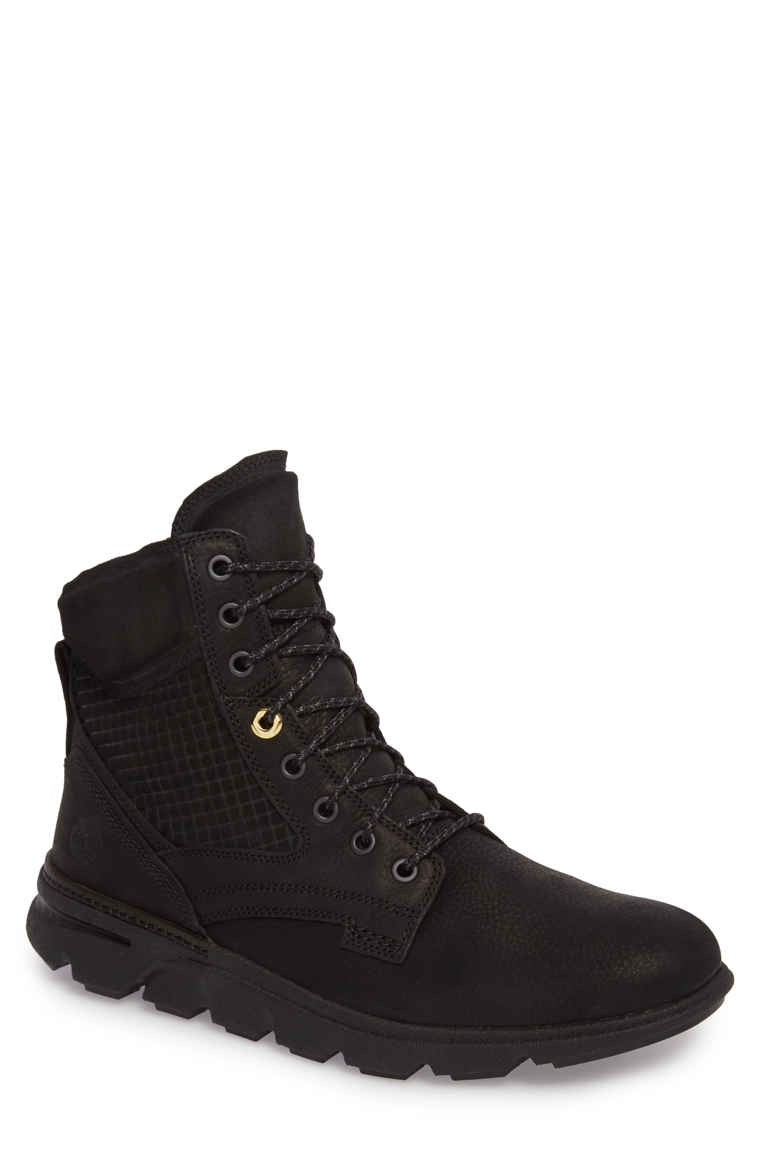 Eagle Lace-Up Boot,                             Main thumbnail 1, color,                             Jet Black Leather
