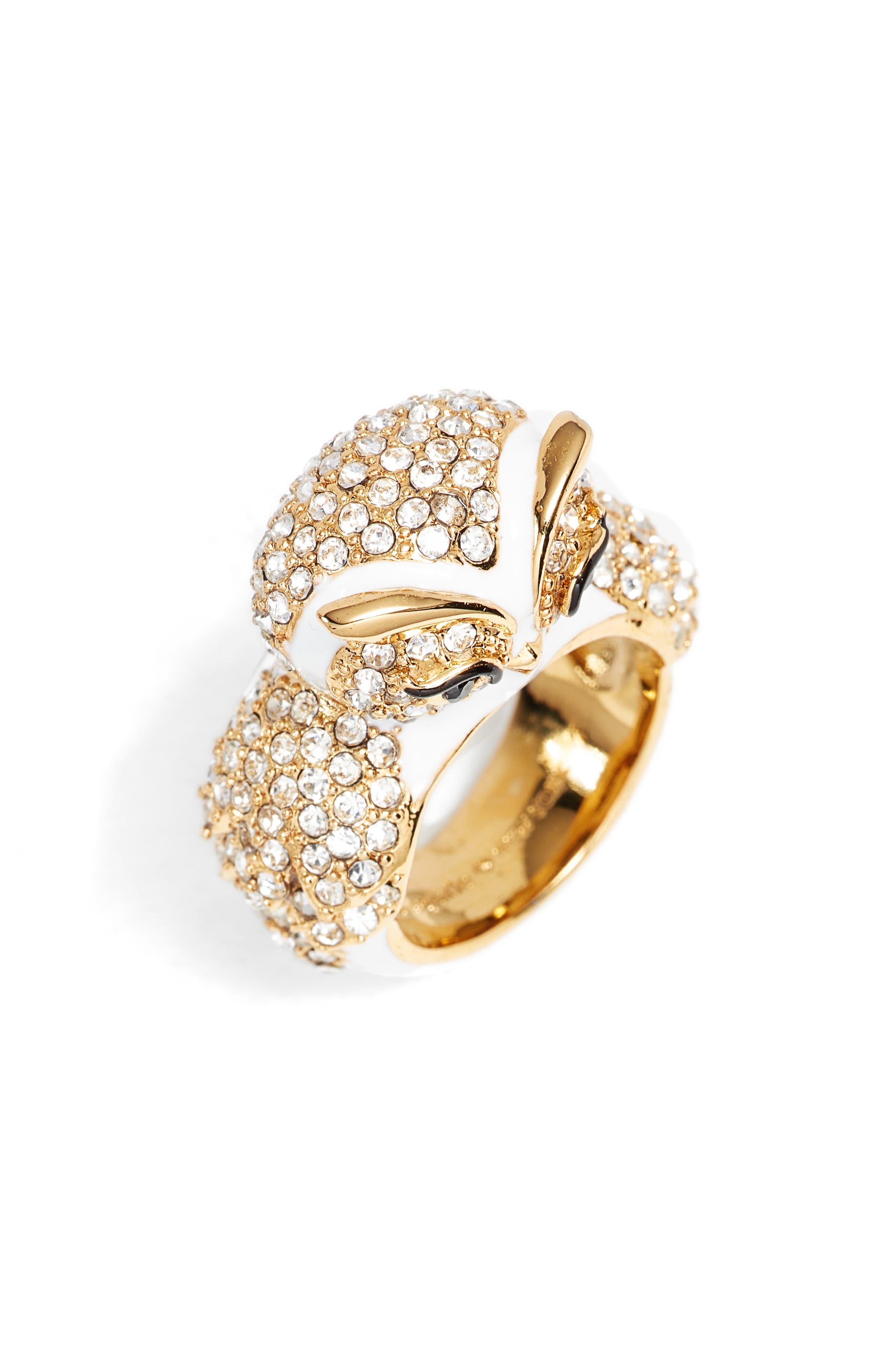star bright owl ring,                             Main thumbnail 1, color,                             White Multi