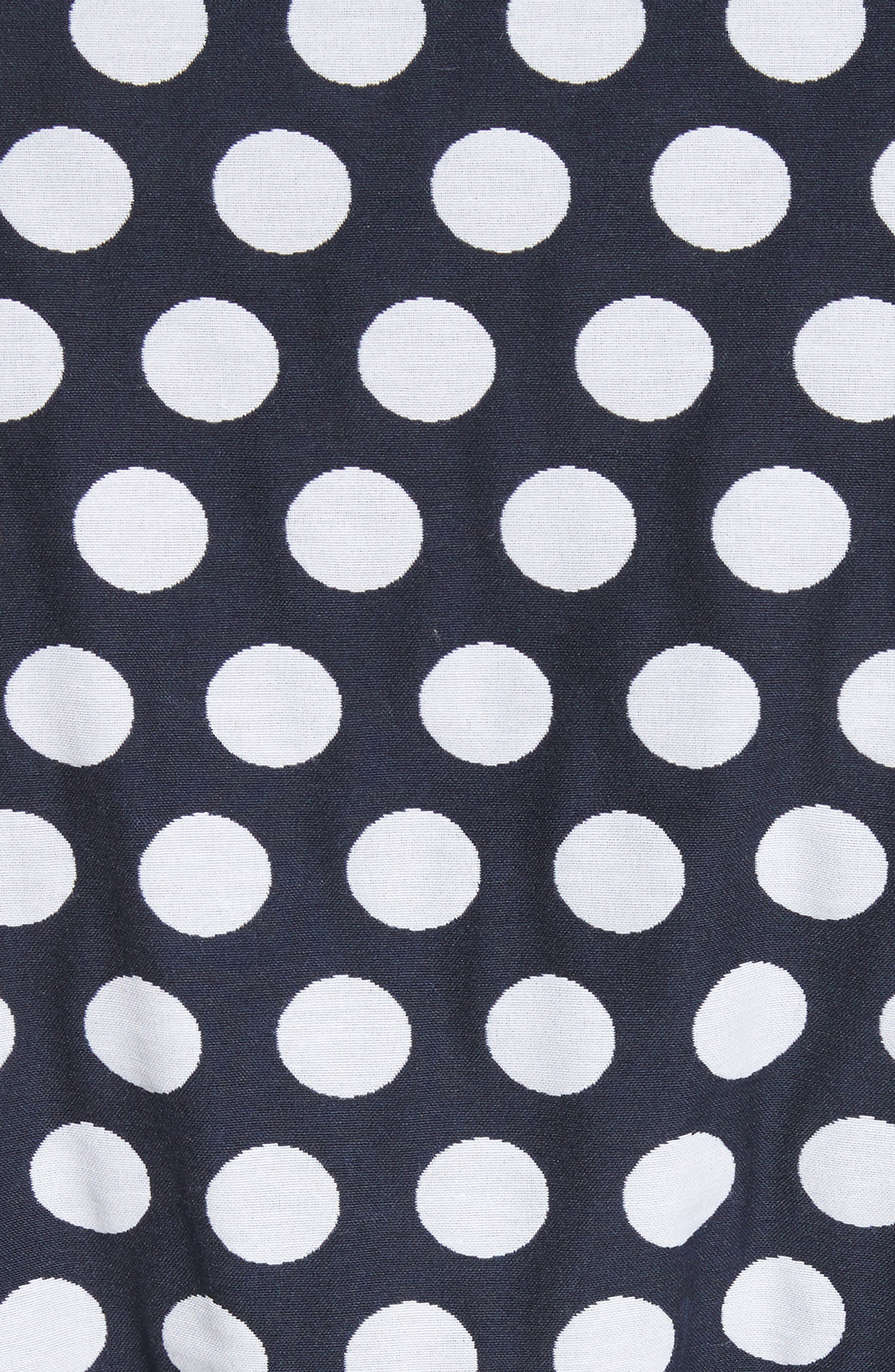 Polka Dot,                             Alternate thumbnail 6, color,                             Navy/ Bianco