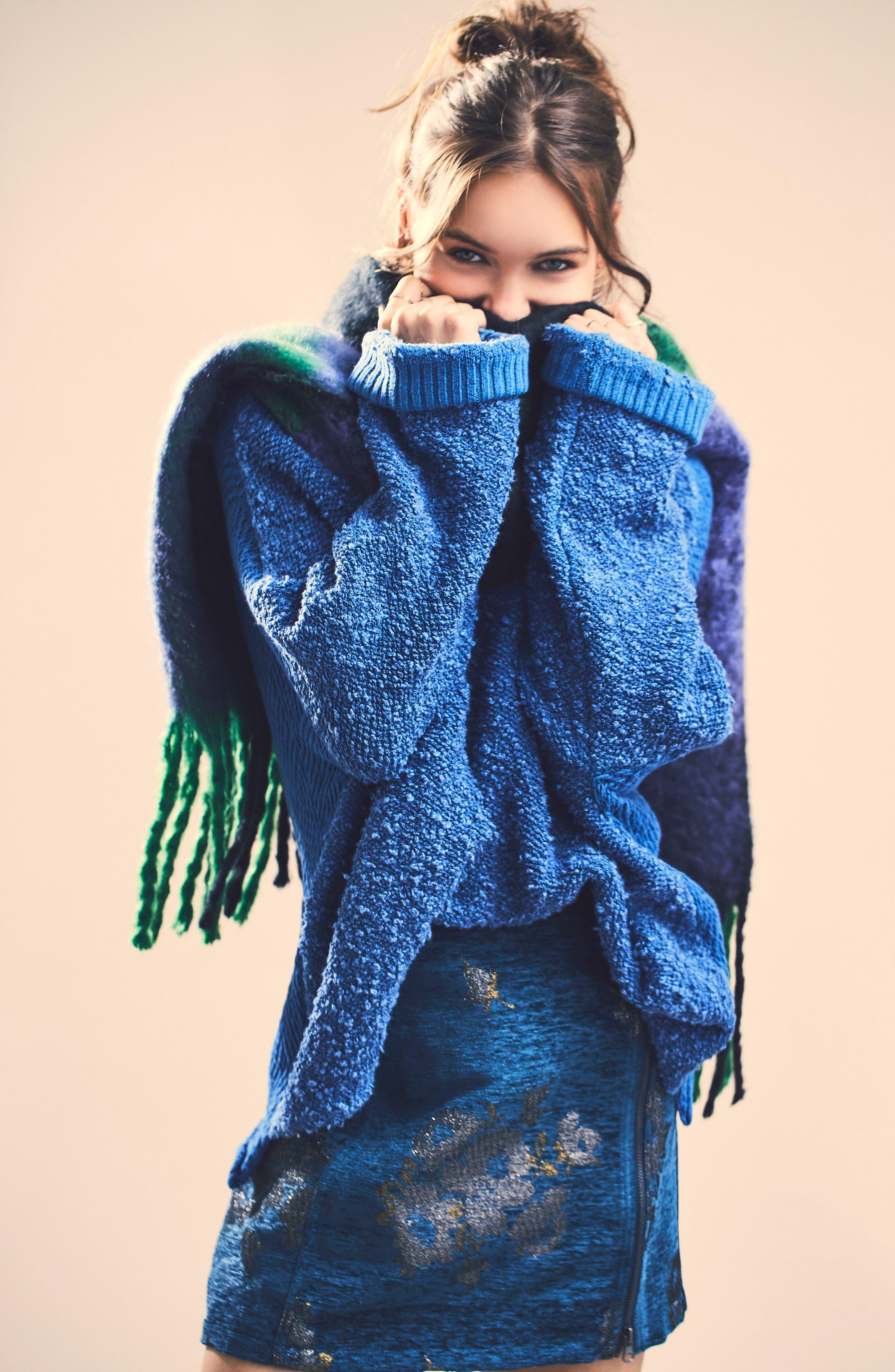 Movin' On Miniskirt,                             Main thumbnail 1, color,                             Dark Turquoise