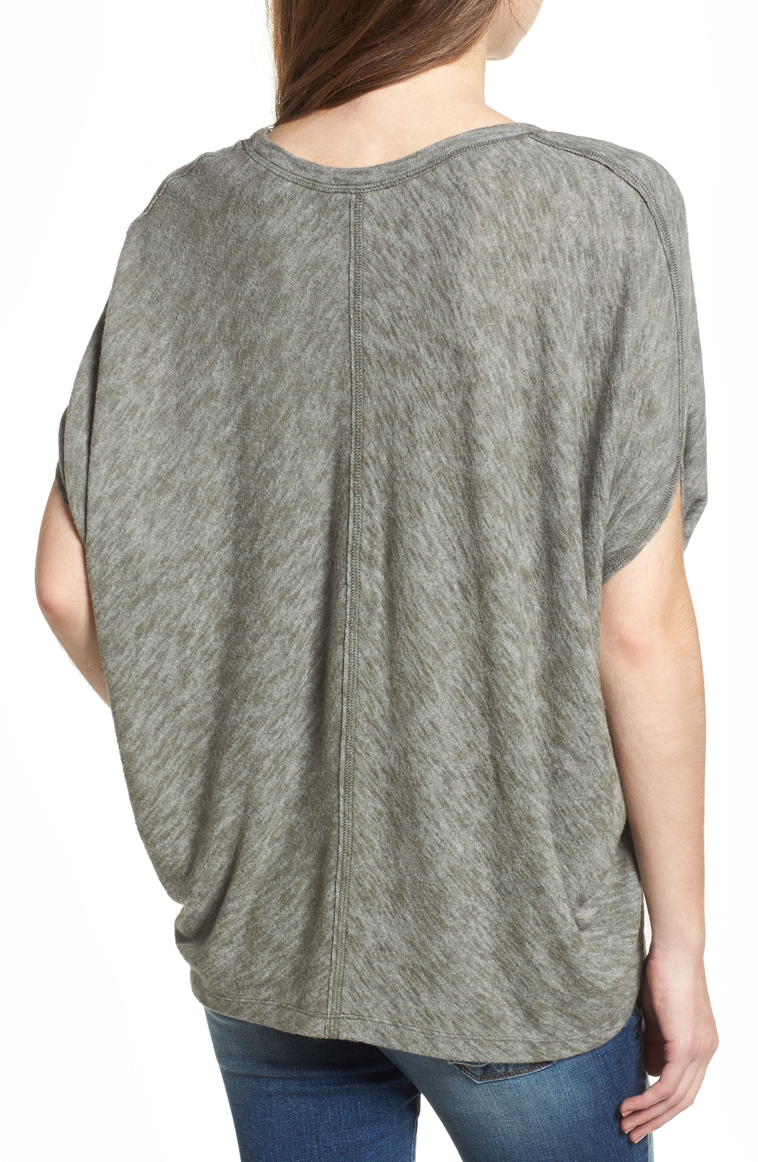 Cocoon Top,                             Alternate thumbnail 2, color,                             Olive Green