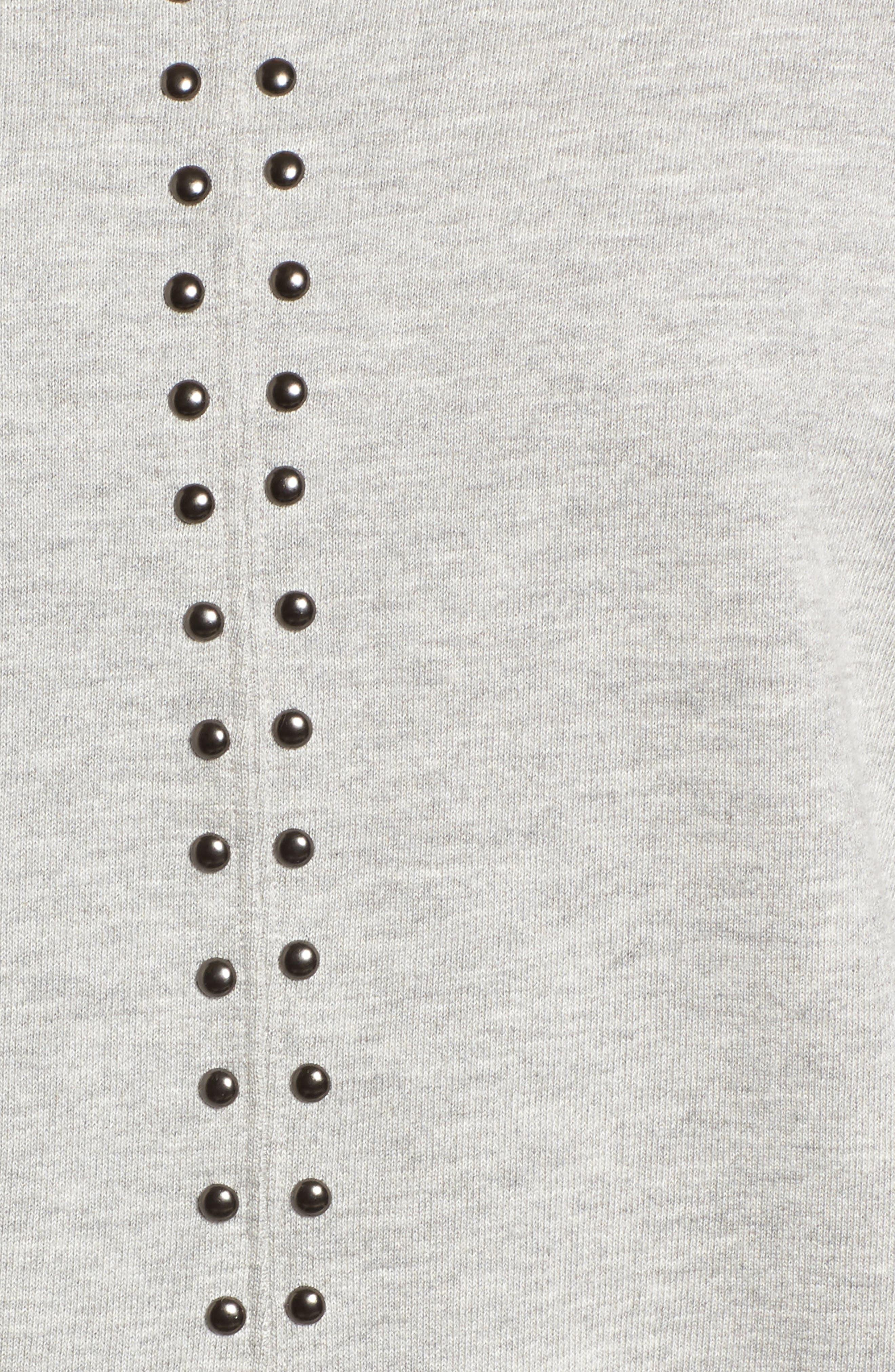 Wilson Studded Sweatshirt,                             Alternate thumbnail 5, color,                             Heather Grey